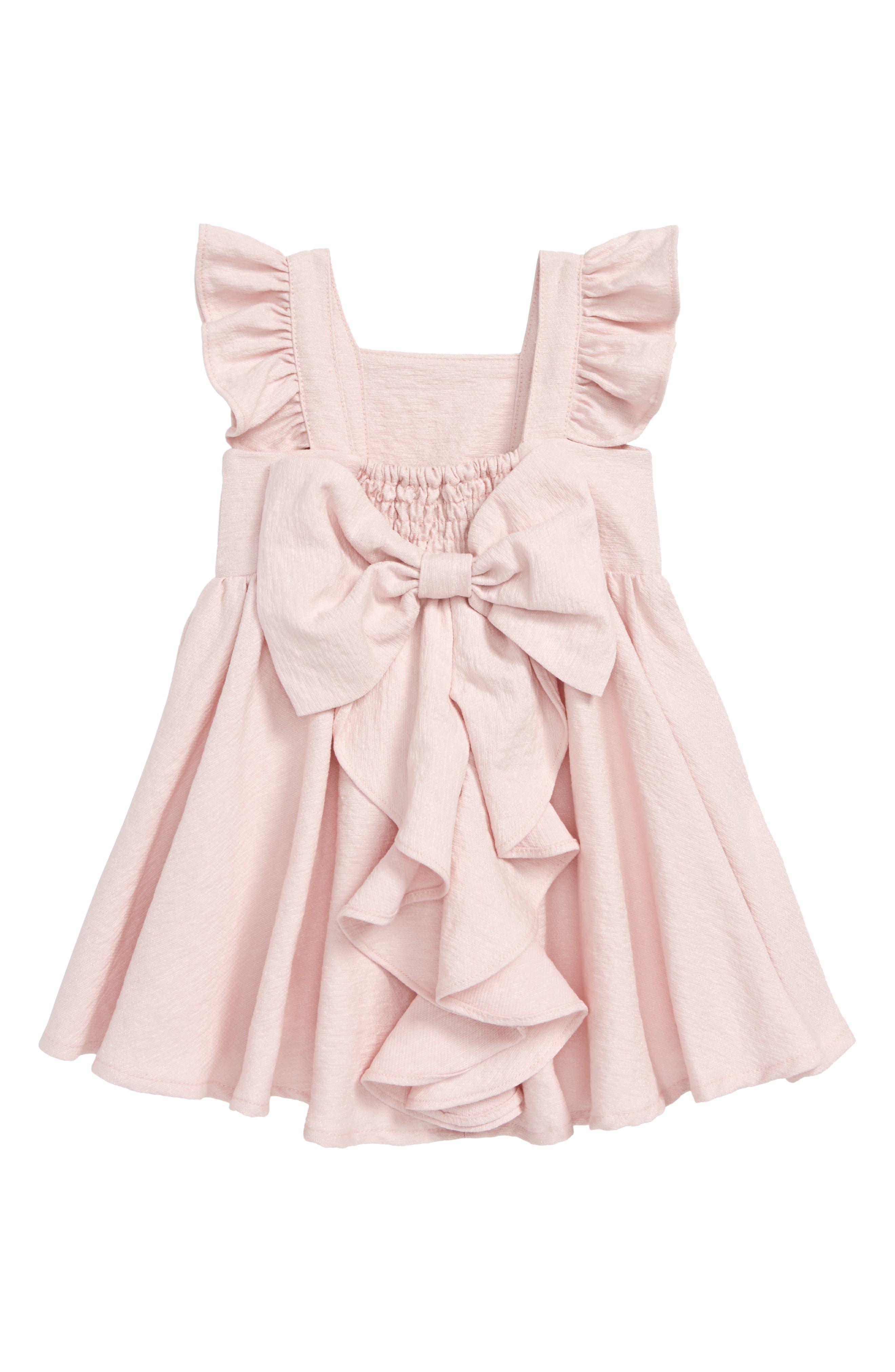 Estella Bow Party Dress,                             Alternate thumbnail 2, color,                             Potpourri
