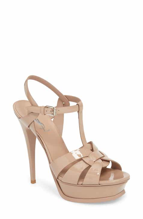 Saint Laurent Tribute T-Strap Platform Sandal (Women) 04c52c3d37