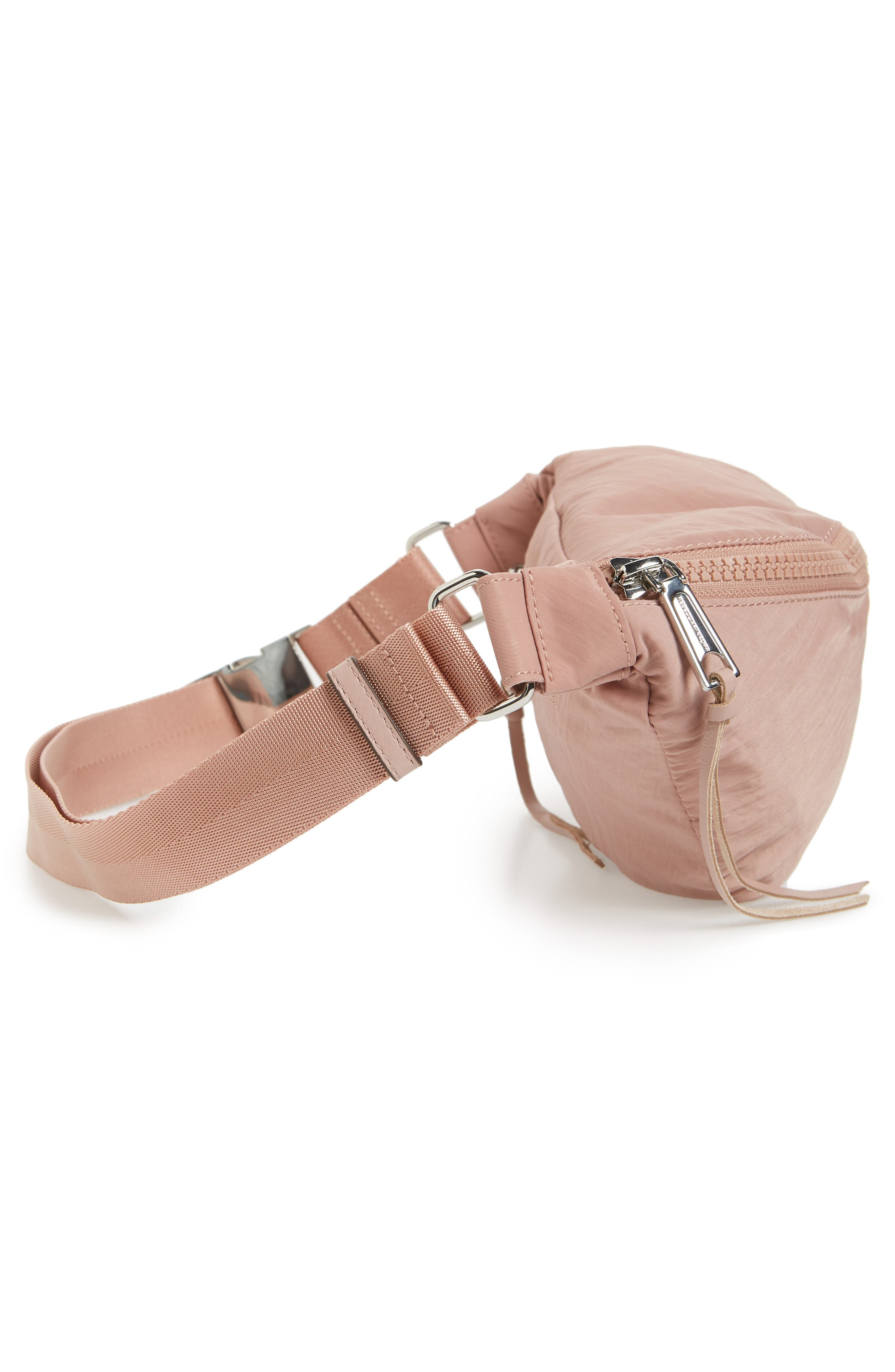 Nylon Belt Bag,                             Alternate thumbnail 4, color,                             Vintage Pink