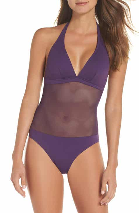 Vilebrequin Solid Net One-Piece Swimsuit by VILEBREQUIN
