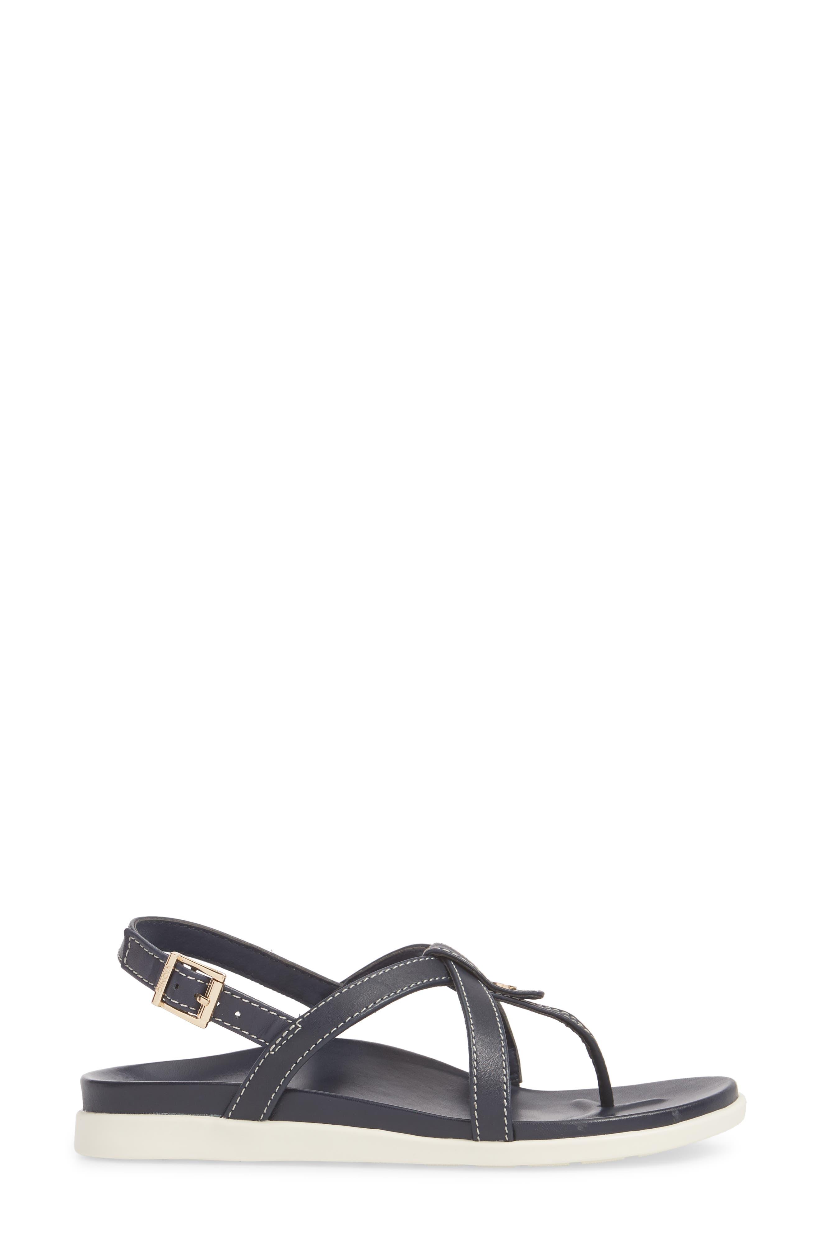 Veranda Orthaheel<sup>®</sup> Sandal,                             Alternate thumbnail 6, color,                             Navy Leather
