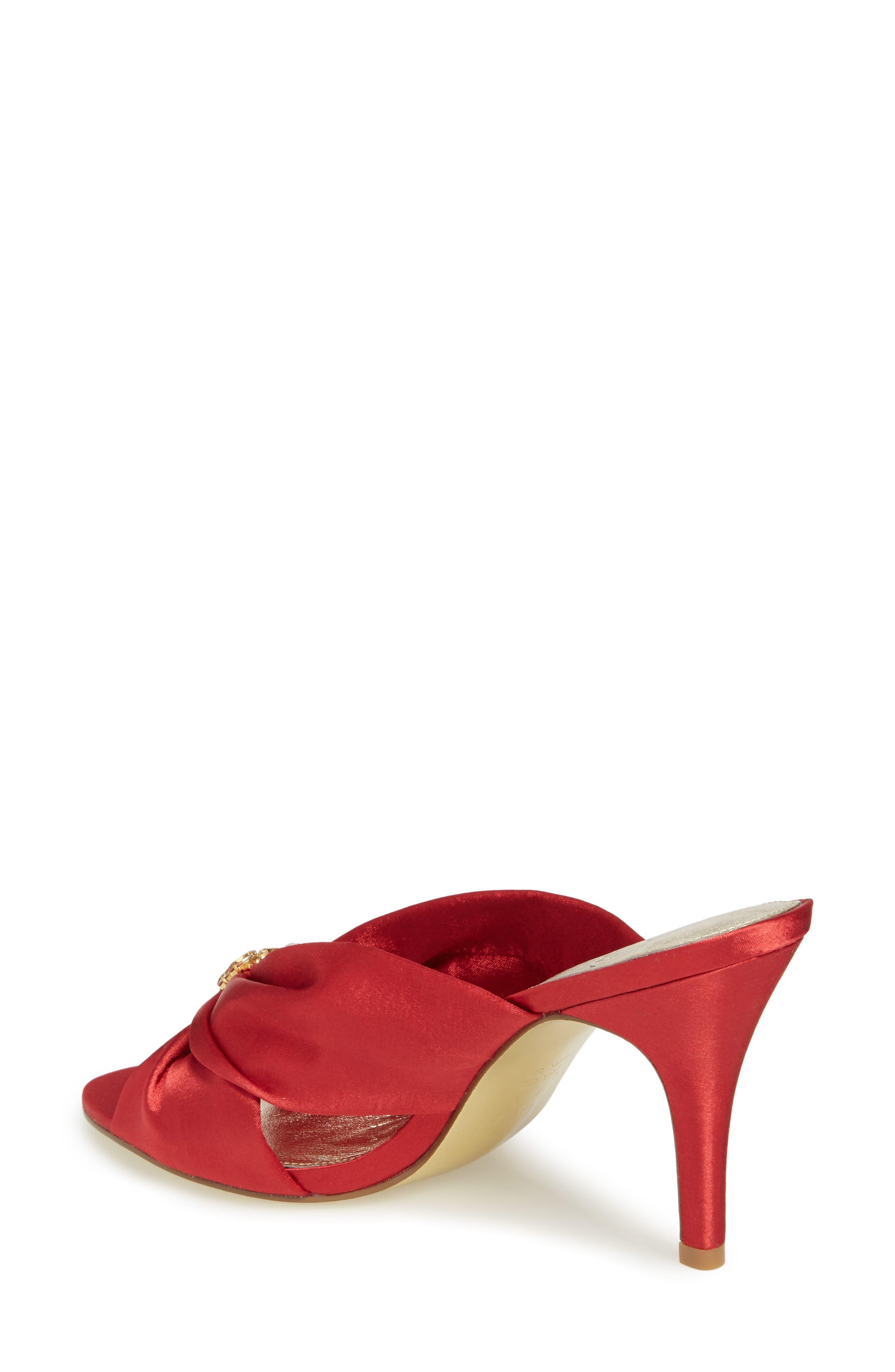 Flo Sandal,                             Alternate thumbnail 2, color,                             Red Satin