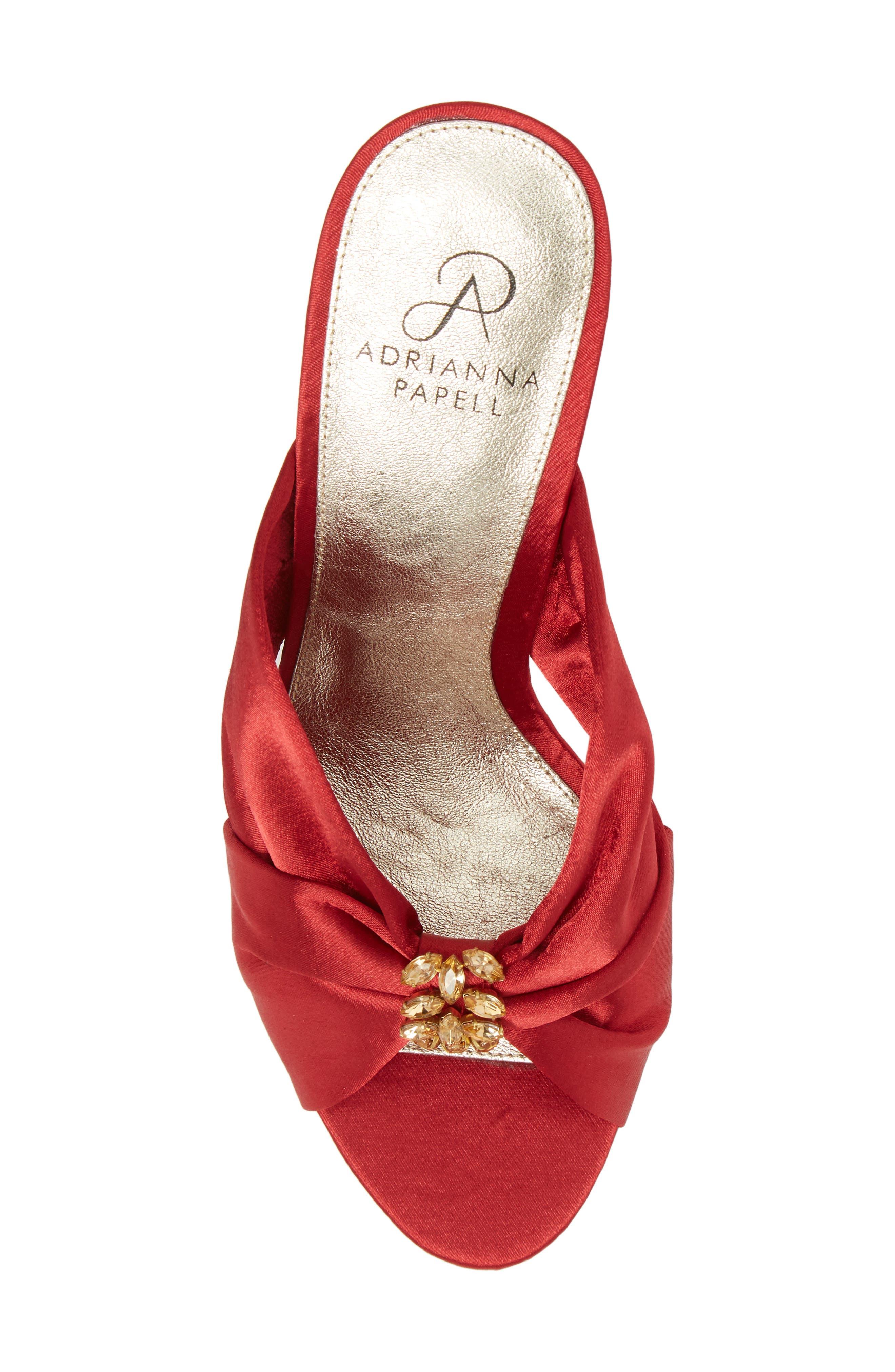 Flo Sandal,                             Alternate thumbnail 3, color,                             Red Satin