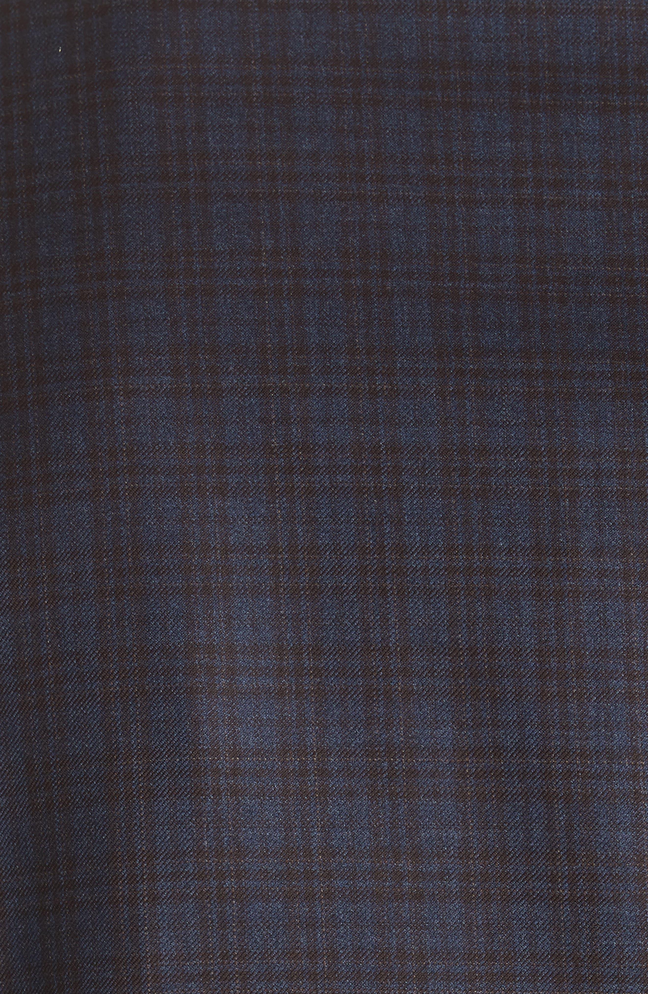 Classic Fit Plaid Wool Sport Coat,                             Alternate thumbnail 3, color,                             Dark Blue