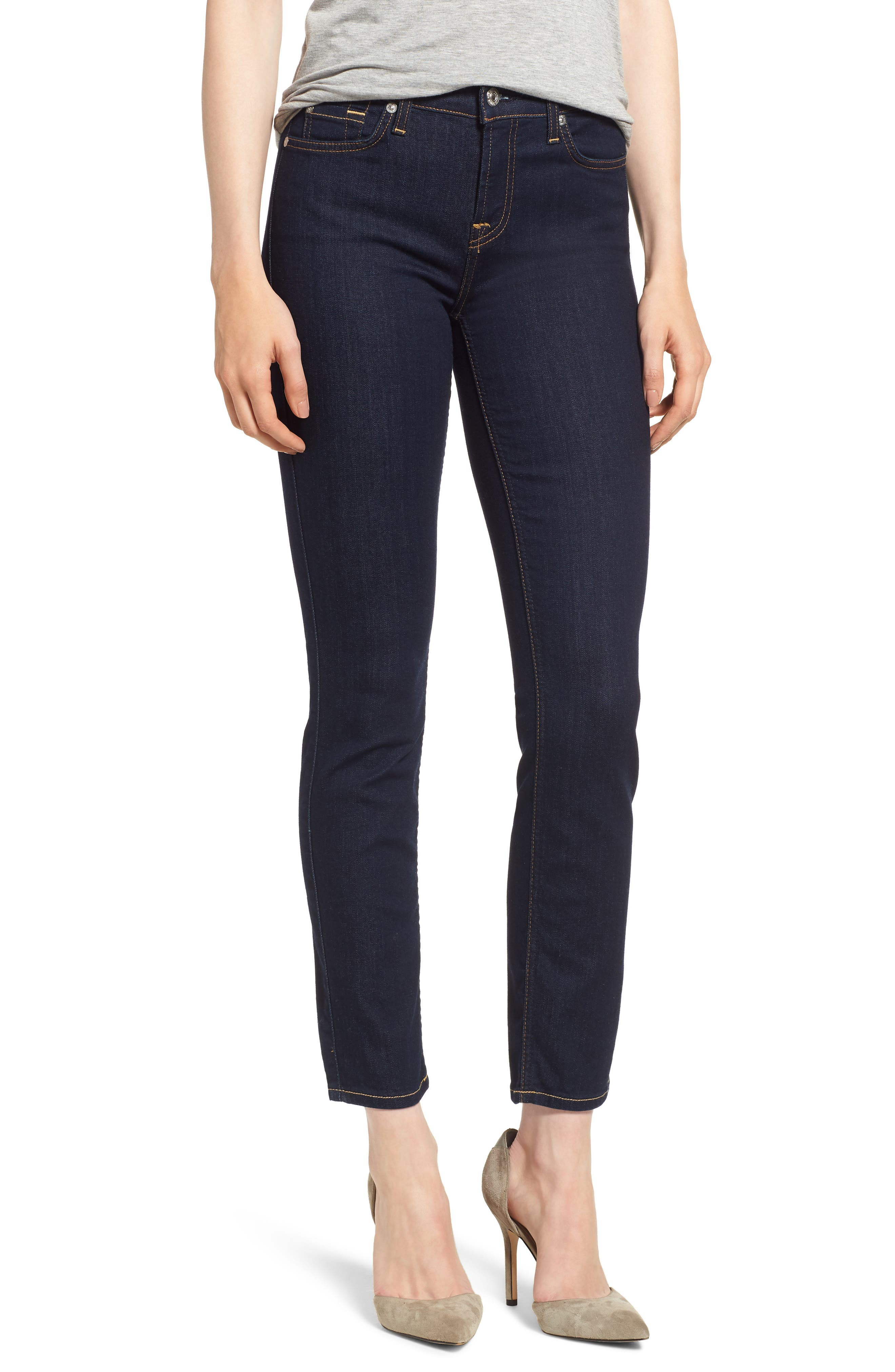 b(air) Roxanne Ankle Skinny Jeans,                         Main,                         color, B(Air) Authentic Rinse