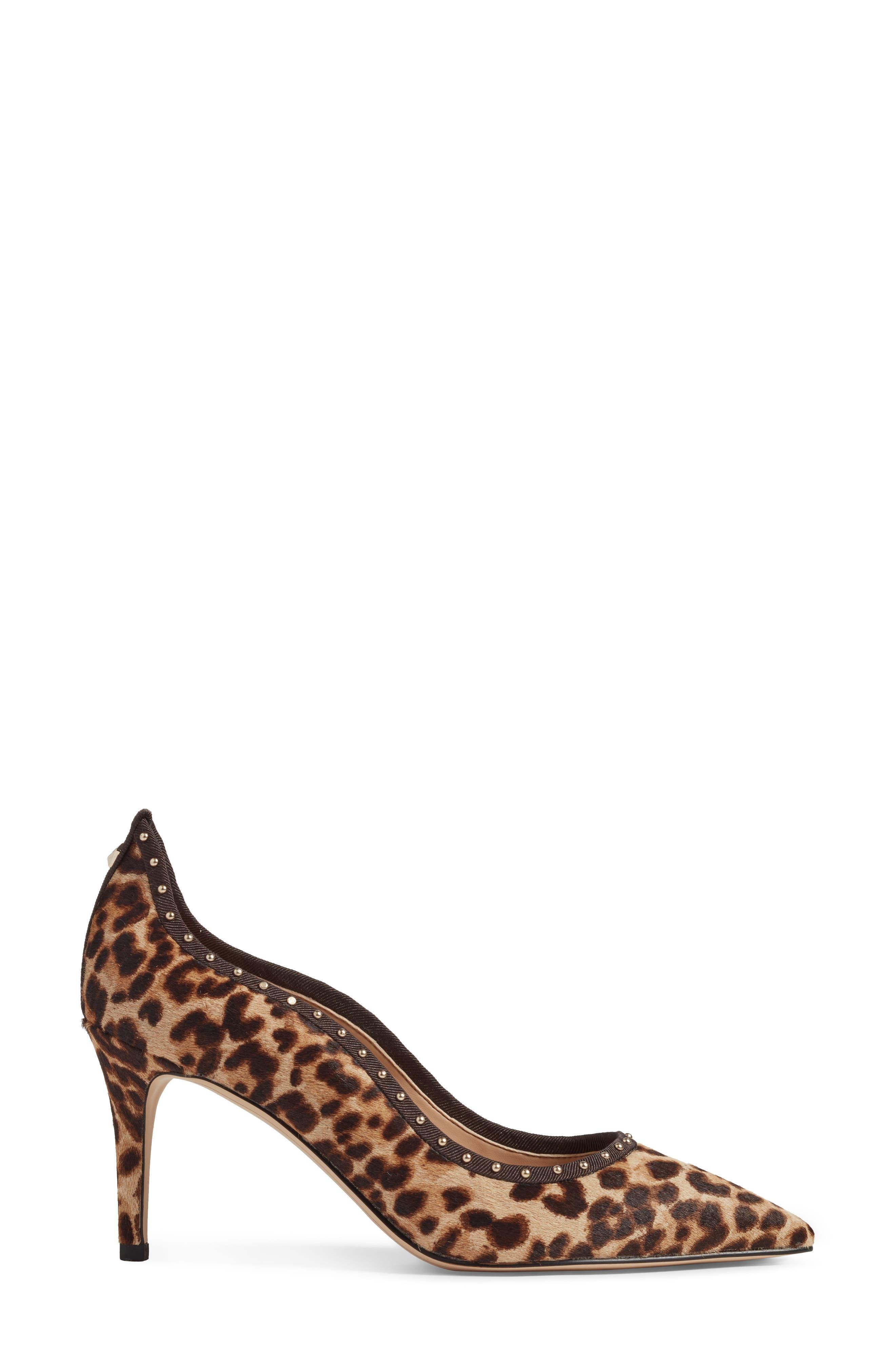 Tiana Genuine Calf Hair Pump,                             Alternate thumbnail 3, color,                             Leopard Print Calf Hair