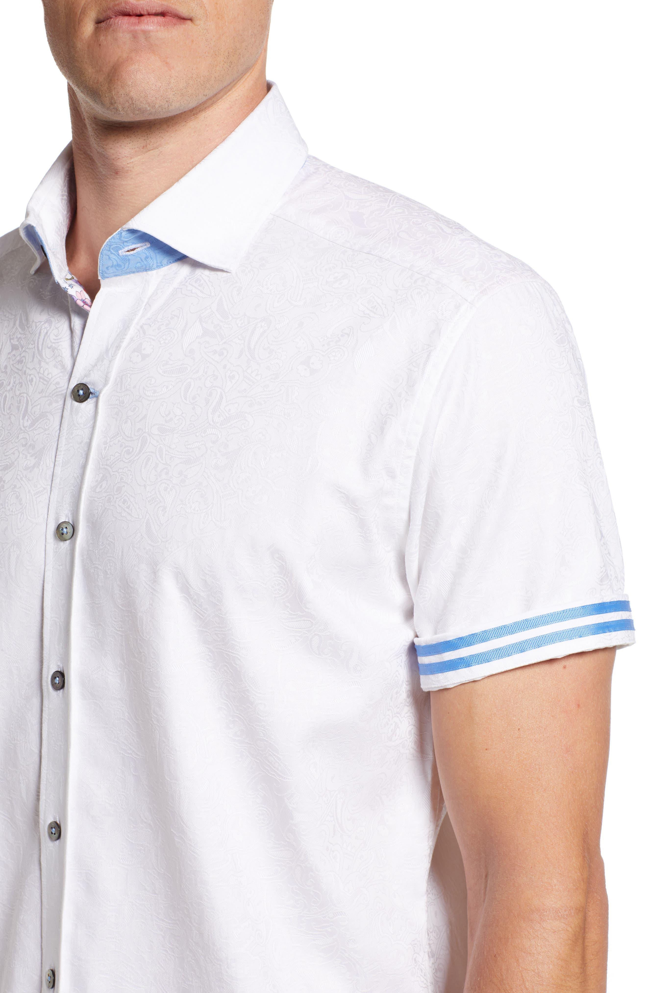 Abbott Sport Shirt,                             Alternate thumbnail 2, color,                             White
