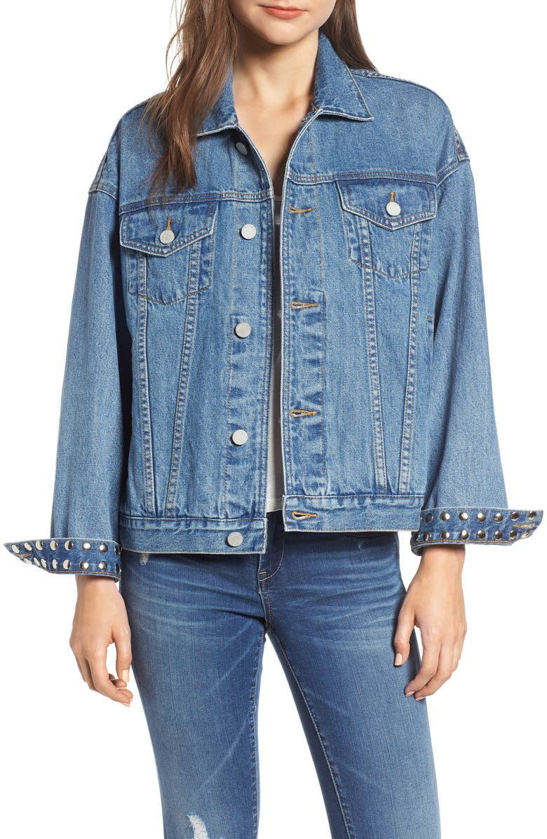 Studded Cuff Denim Jacket