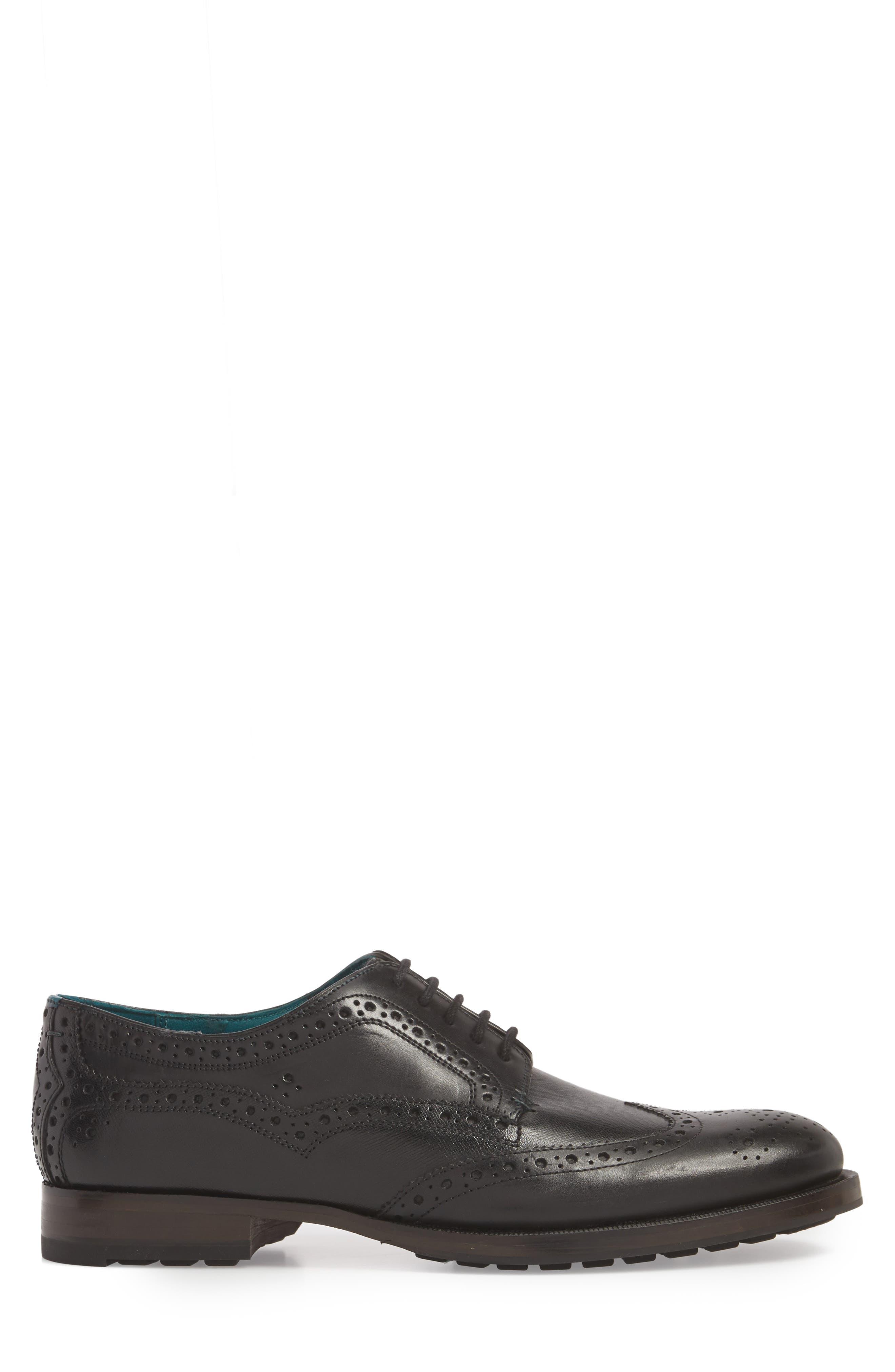 Senape Wingtip,                             Alternate thumbnail 5, color,                             Black Leather