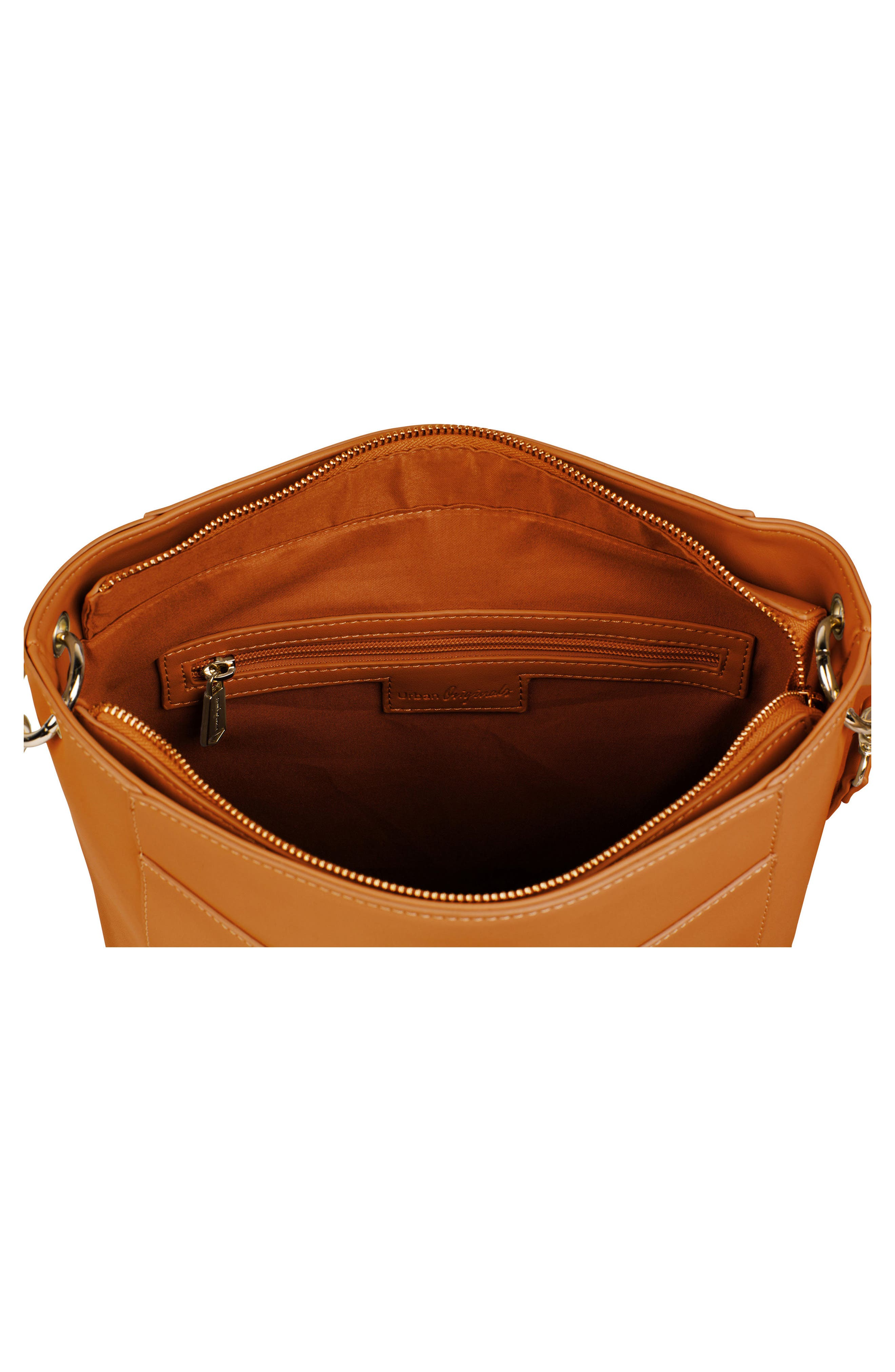 Luminescent Vegan Leather Crossbody Bag,                             Alternate thumbnail 2, color,                             Tan