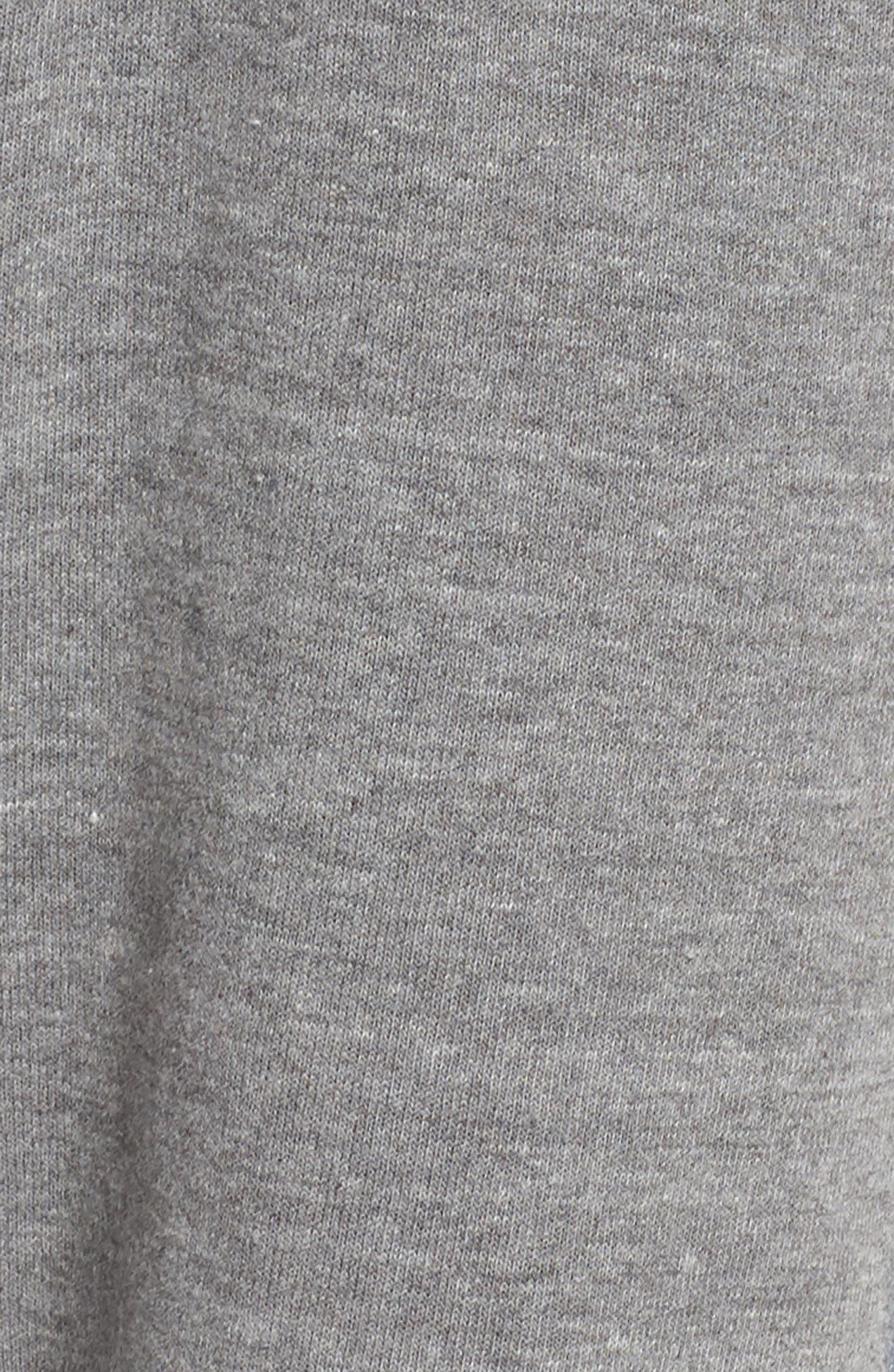 Stripe Sweatpants,                             Alternate thumbnail 6, color,                             Heather Grey/ Blue Stripes