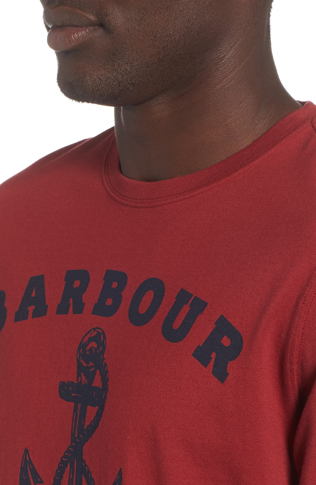 Anchor Graphic T-Shirt,                             Alternate thumbnail 4, color,                             Biking Red