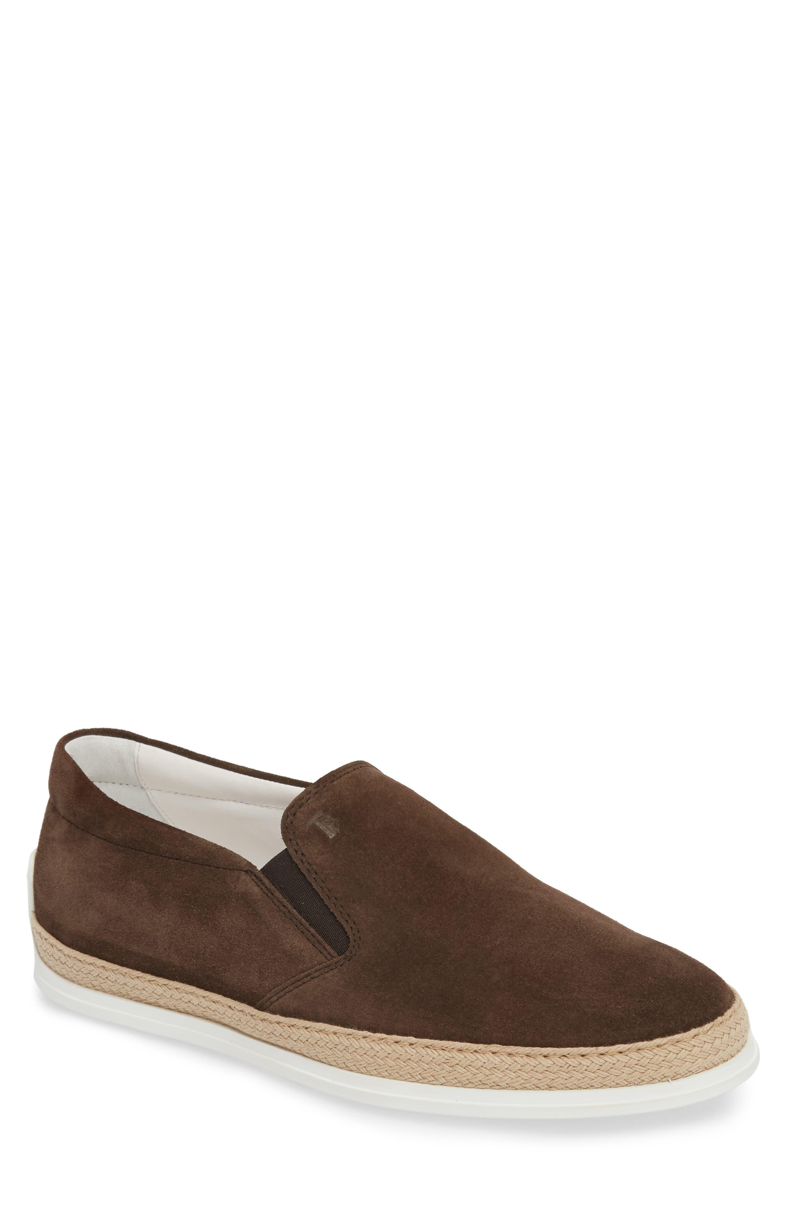 Espadrille Slip-On,                         Main,                         color, Dark Brown