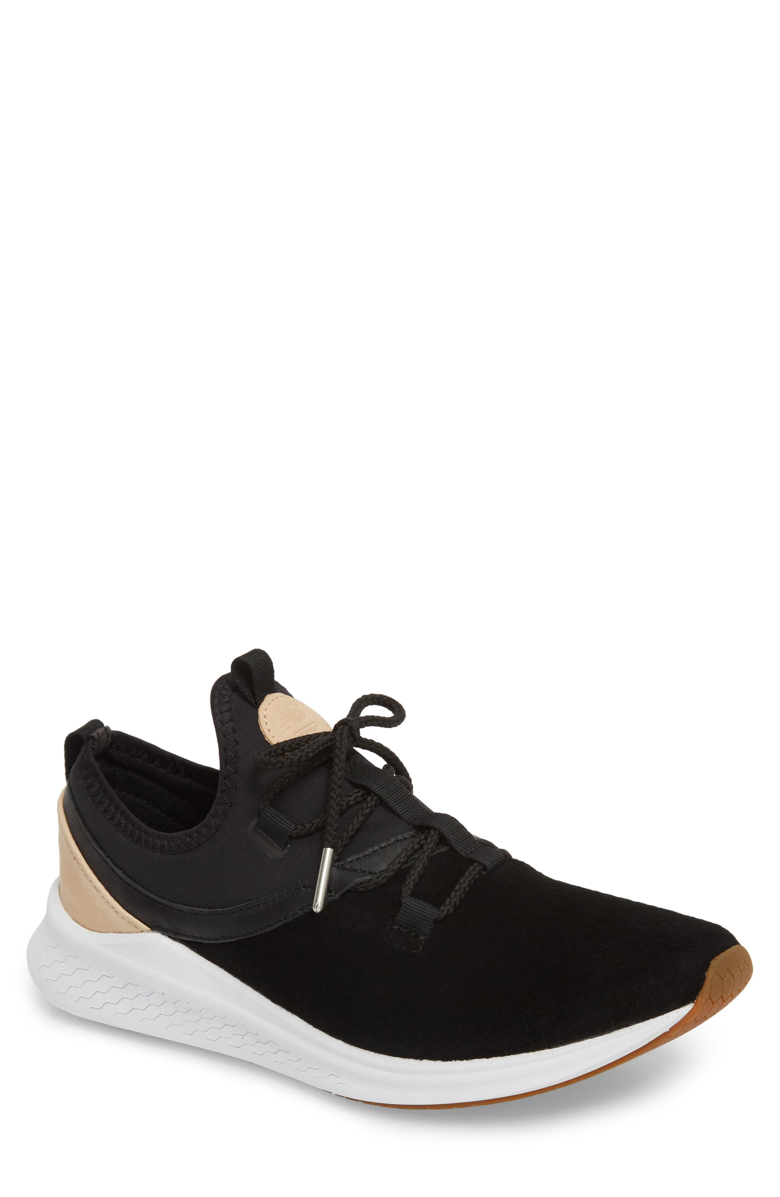 Fresh Foam Lazer Luxe Sneaker,                             Main thumbnail 1, color,                             Black