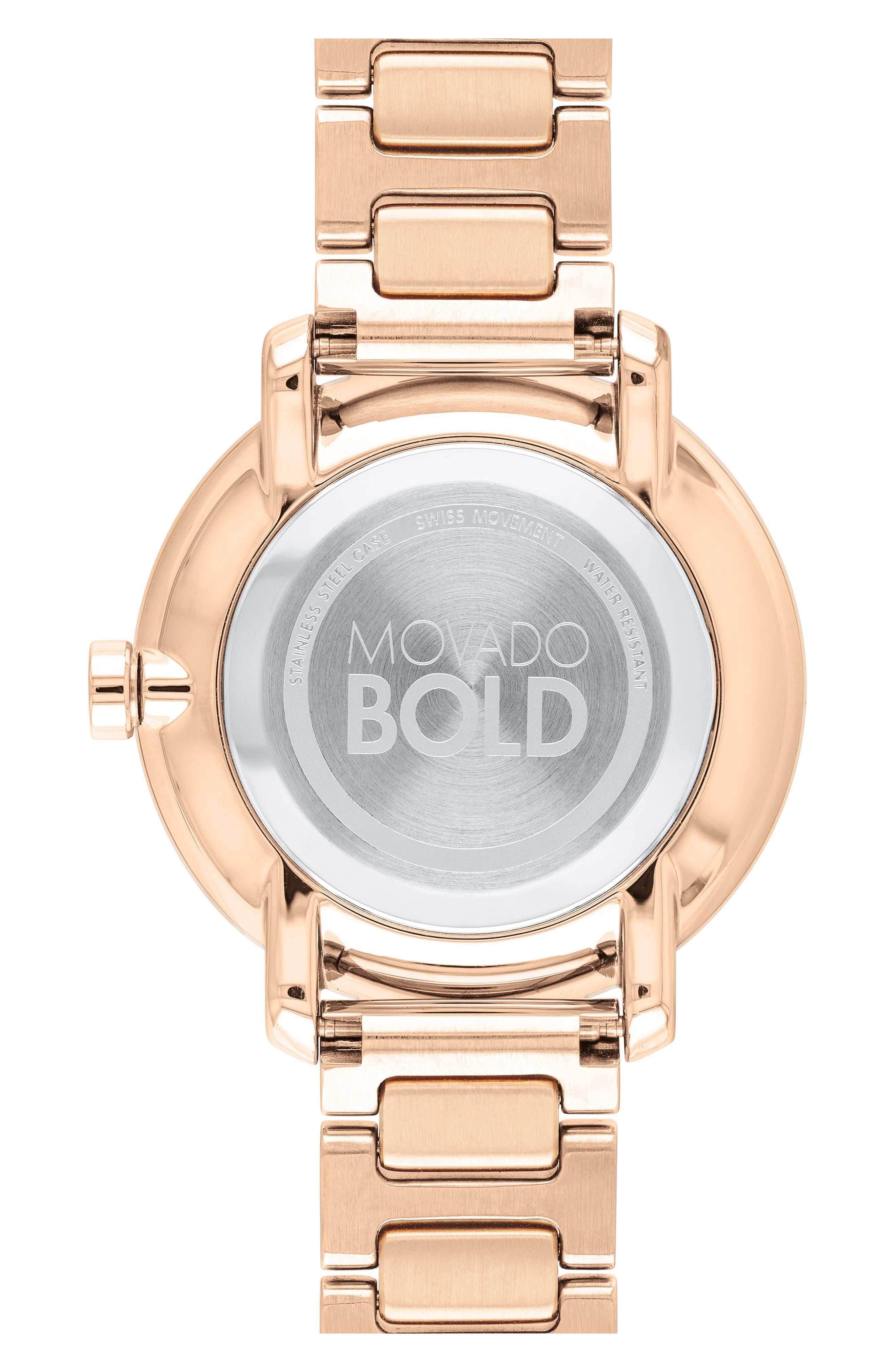 Bold Bracelet Watch, 34mm,                             Alternate thumbnail 2, color,                             Rose Gold