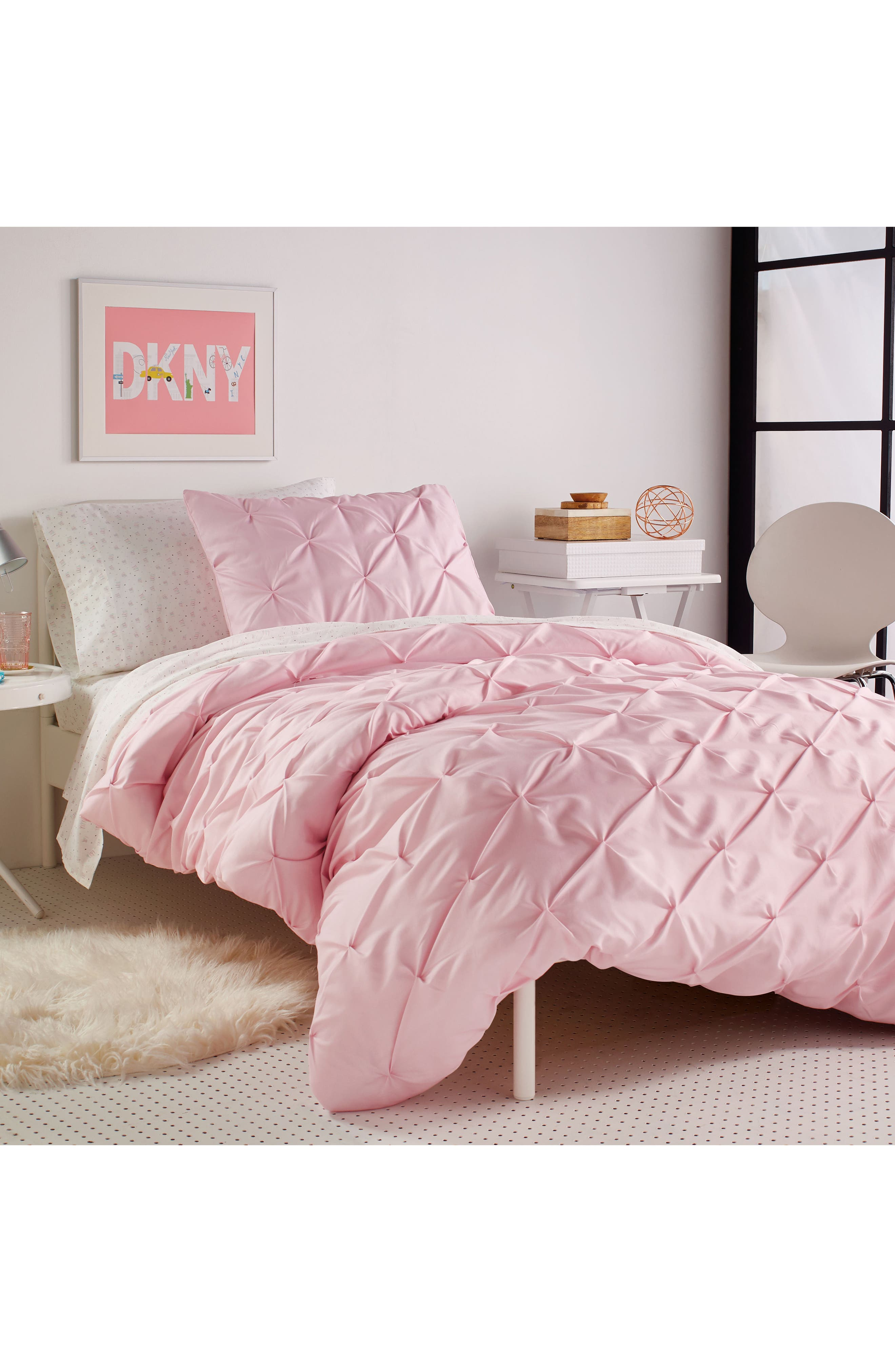 Duvet & Sham Set,                             Alternate thumbnail 3, color,                             Pink