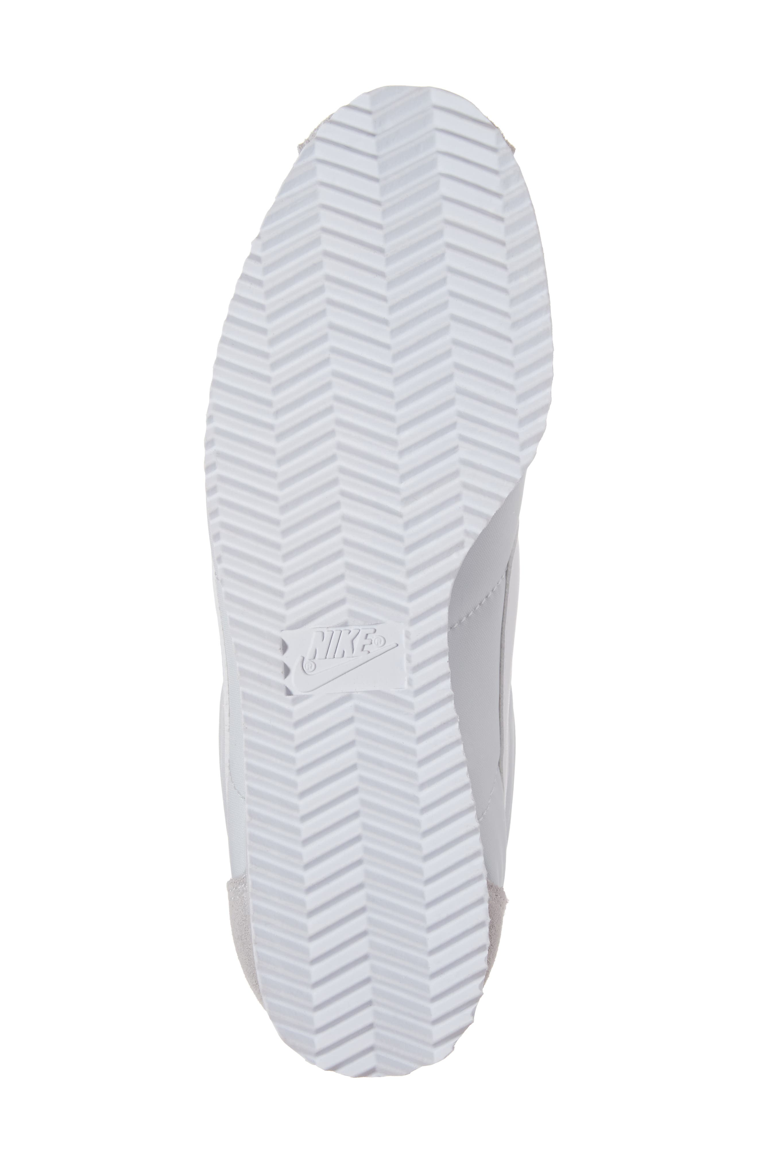 'Classic Cortez' Sneaker,                             Alternate thumbnail 6, color,                             Pure Platinum/ White
