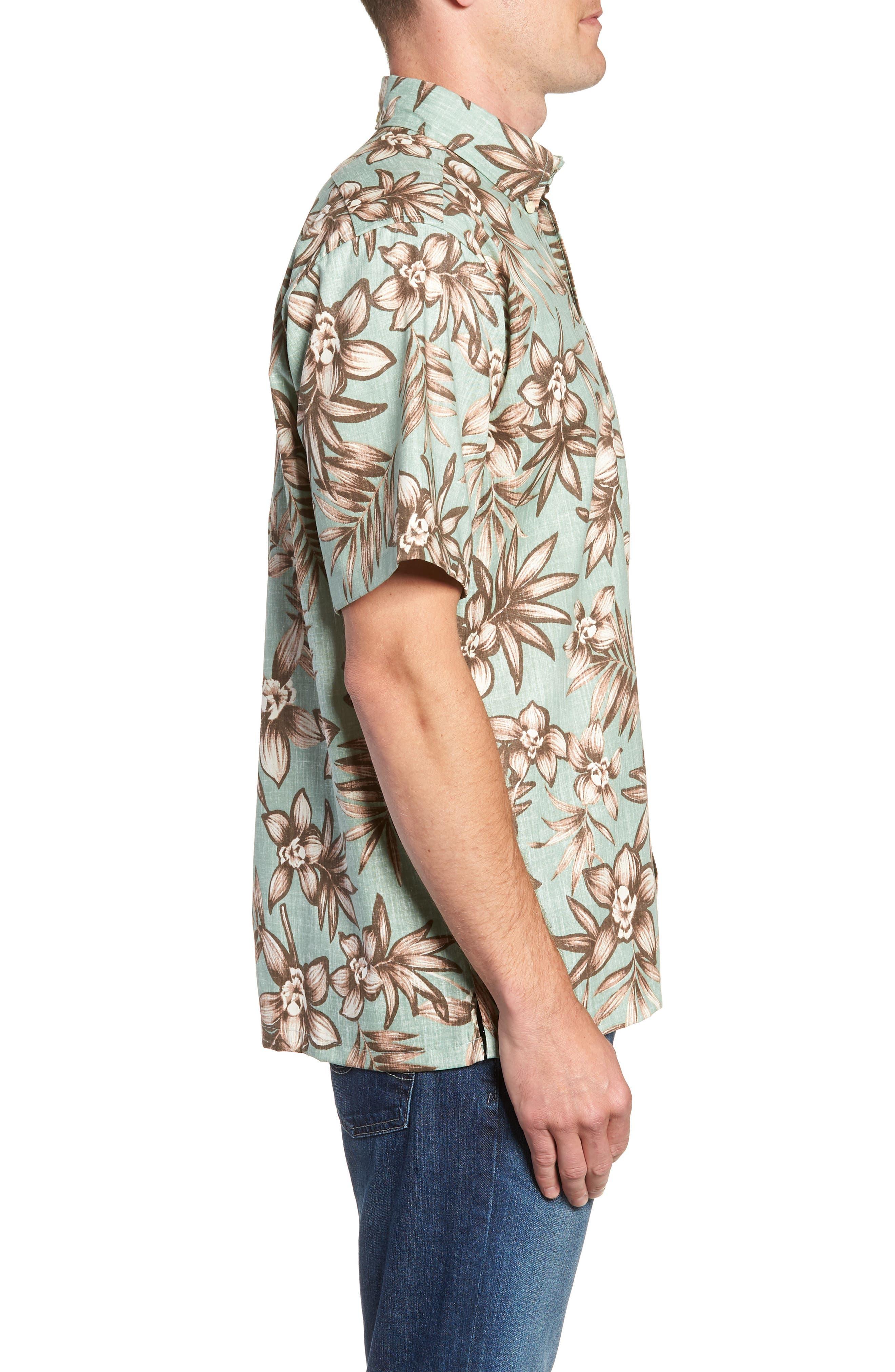 Onishi Garden Regular Fit Sport Shirt,                             Alternate thumbnail 4, color,                             Seafoam