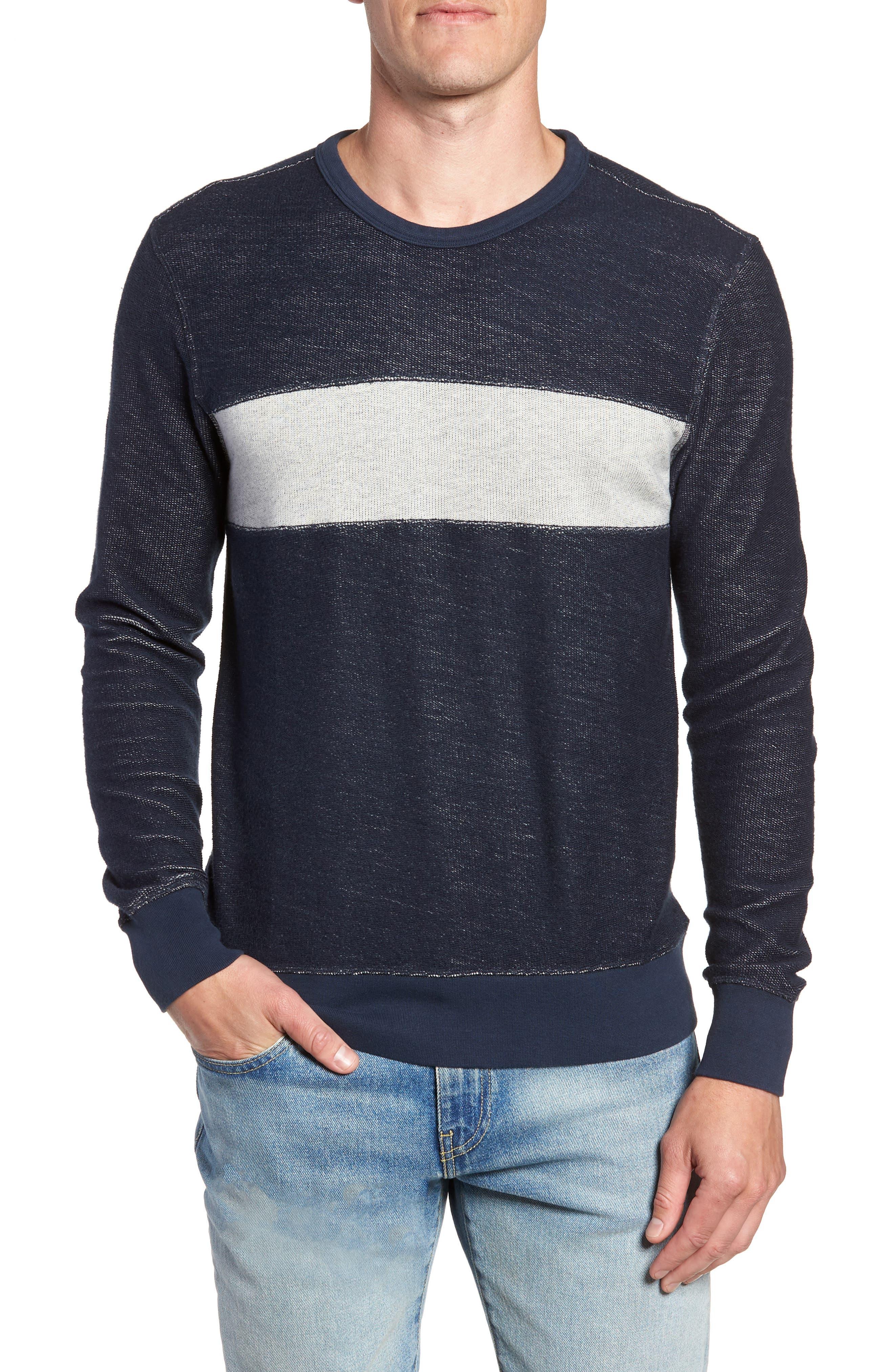 Reversible Colorblock Terry Sweatshirt,                             Main thumbnail 1, color,                             Navy / Grey