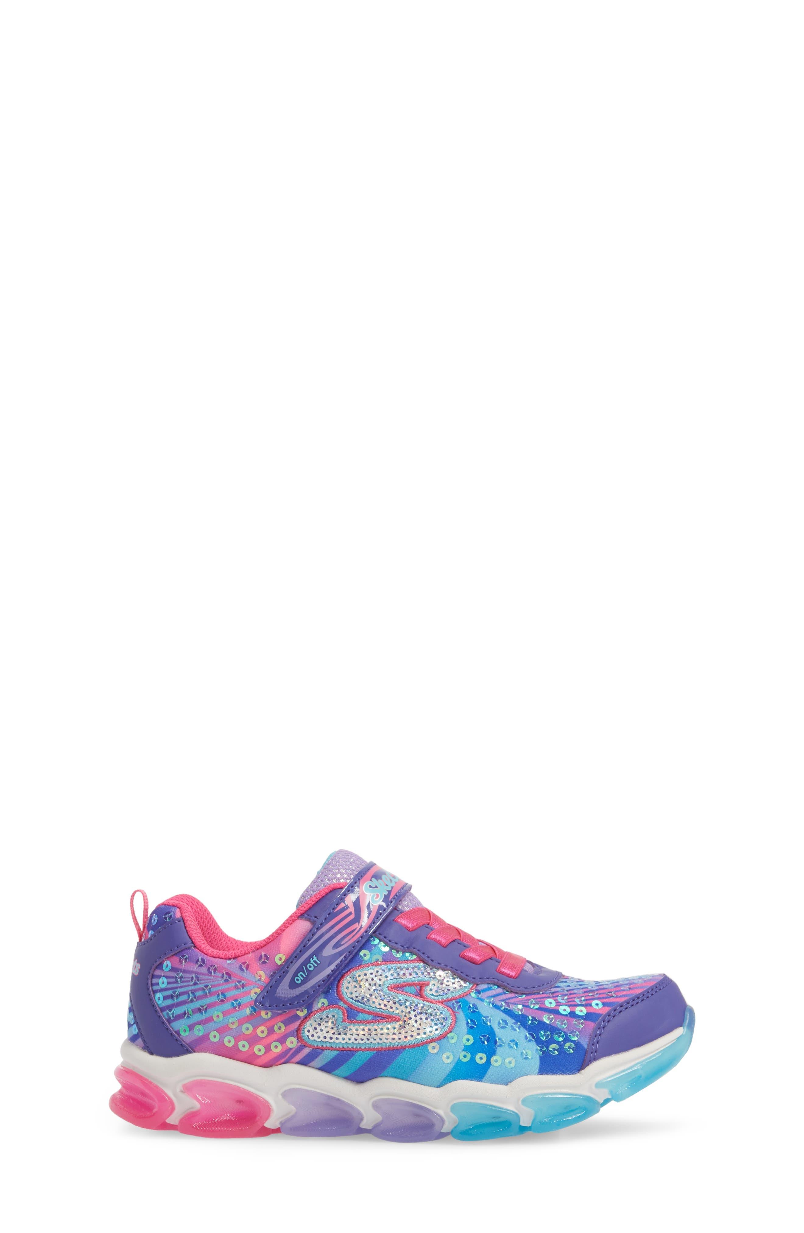Jelly Beams Light-Up Sneaker,                             Alternate thumbnail 6, color,                             Purple/ Multi