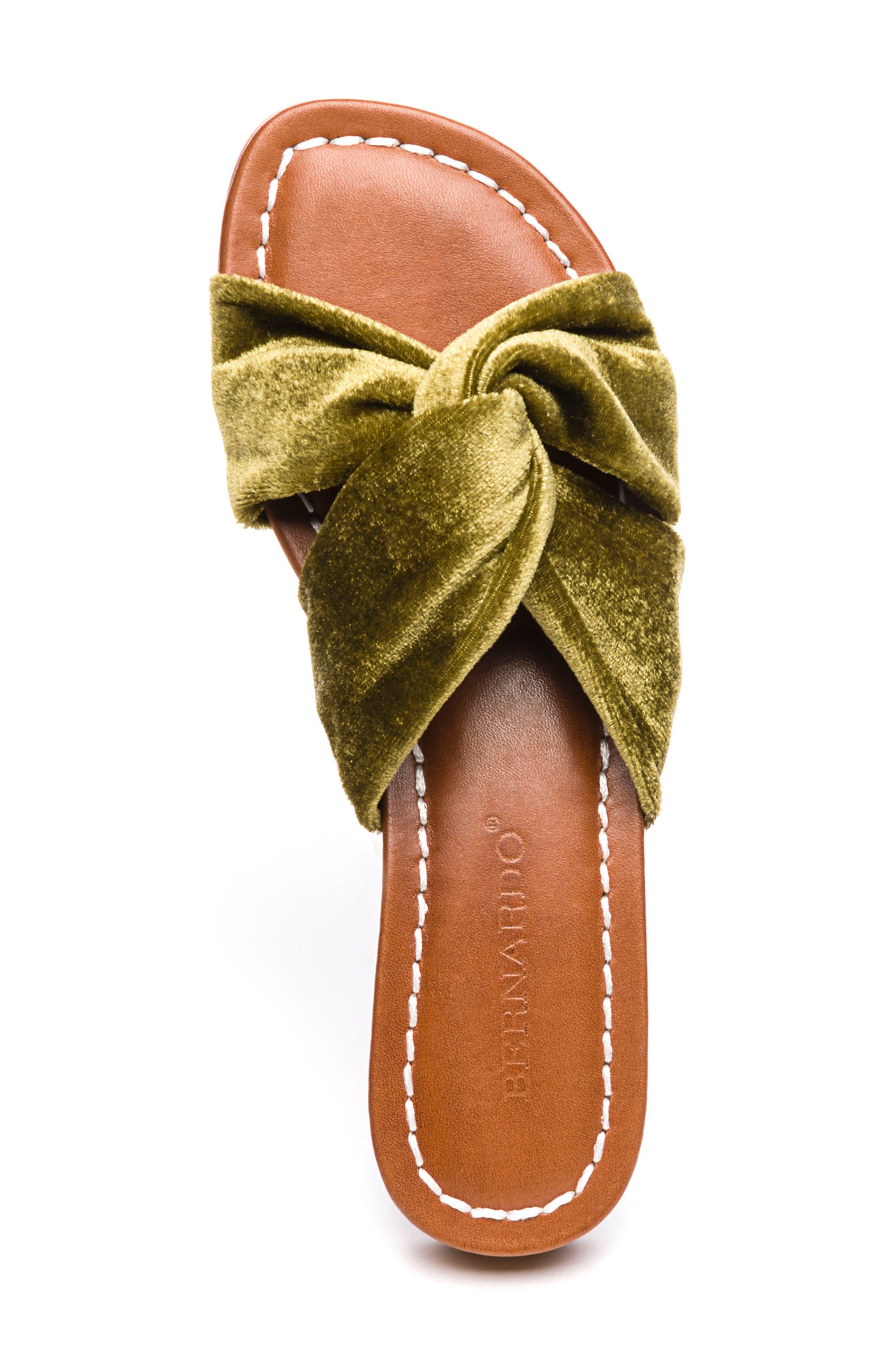 Bernardo Tiffany Knotted Slide Sandal,                             Alternate thumbnail 5, color,                             Clasico Velvet