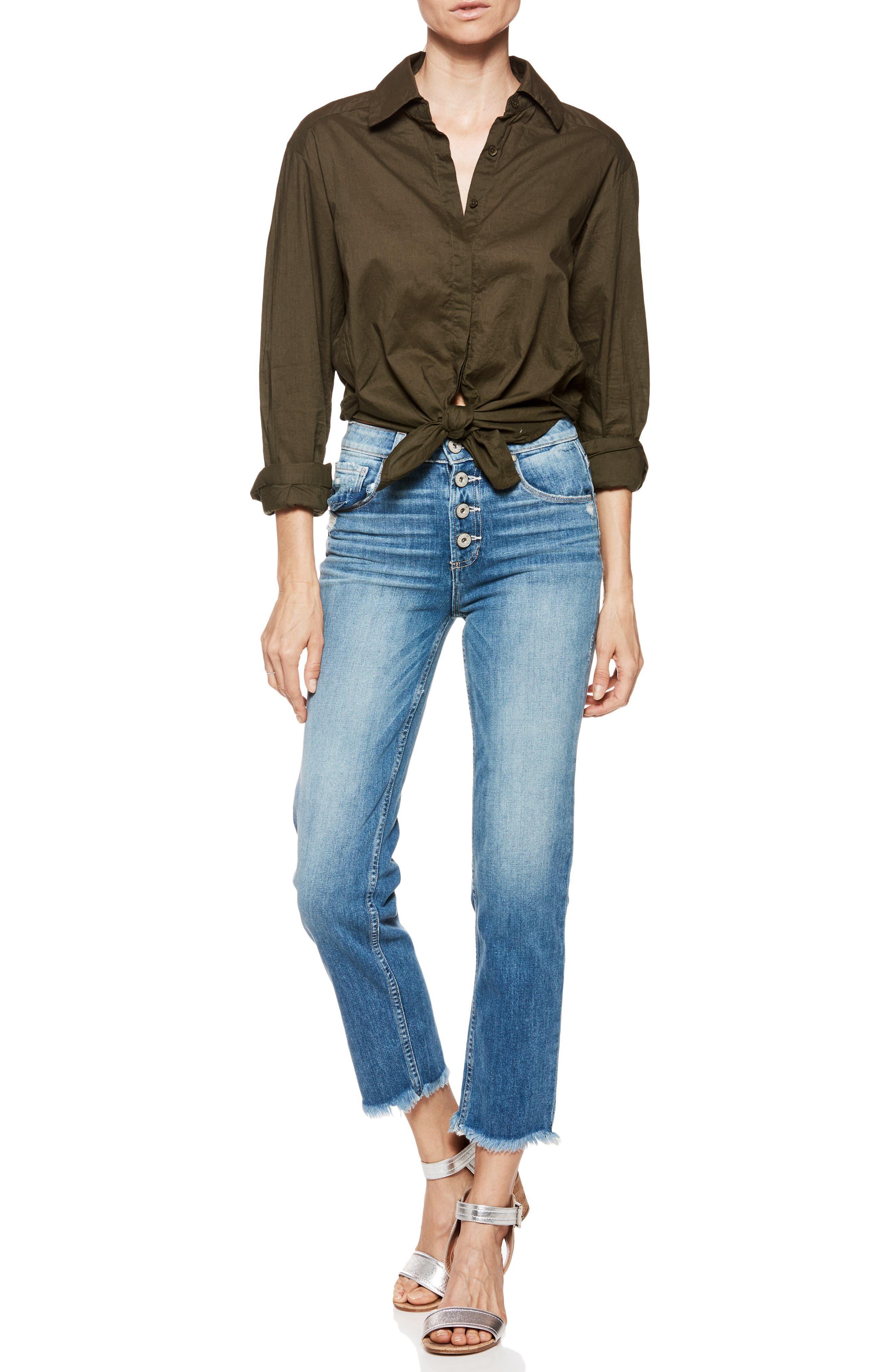 Sarah High Waist Straight Leg Jeans,                             Alternate thumbnail 4, color,                             Venice