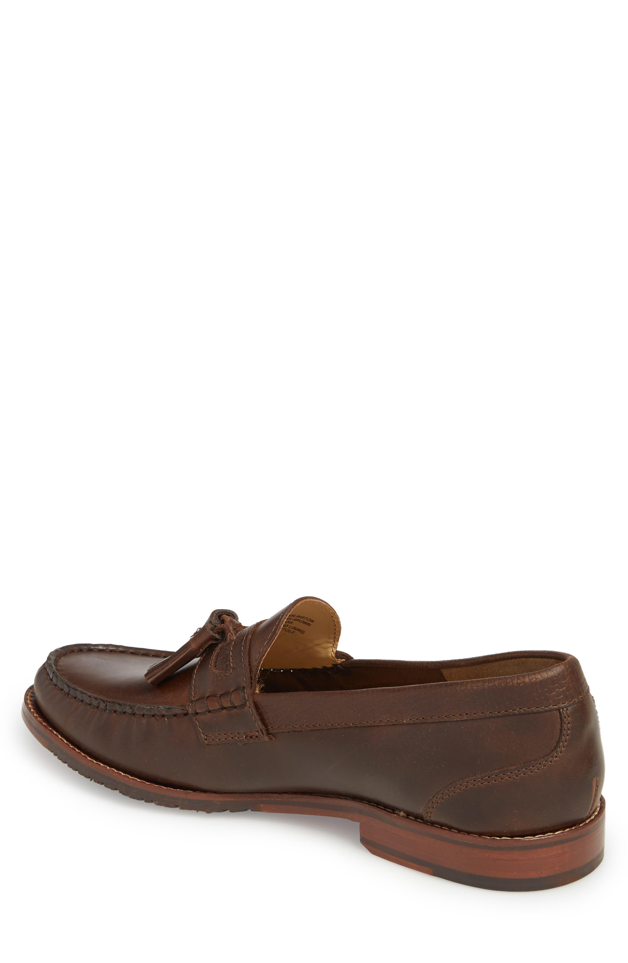 Tasslington Loafer,                             Alternate thumbnail 2, color,                             Dark Brown Leather