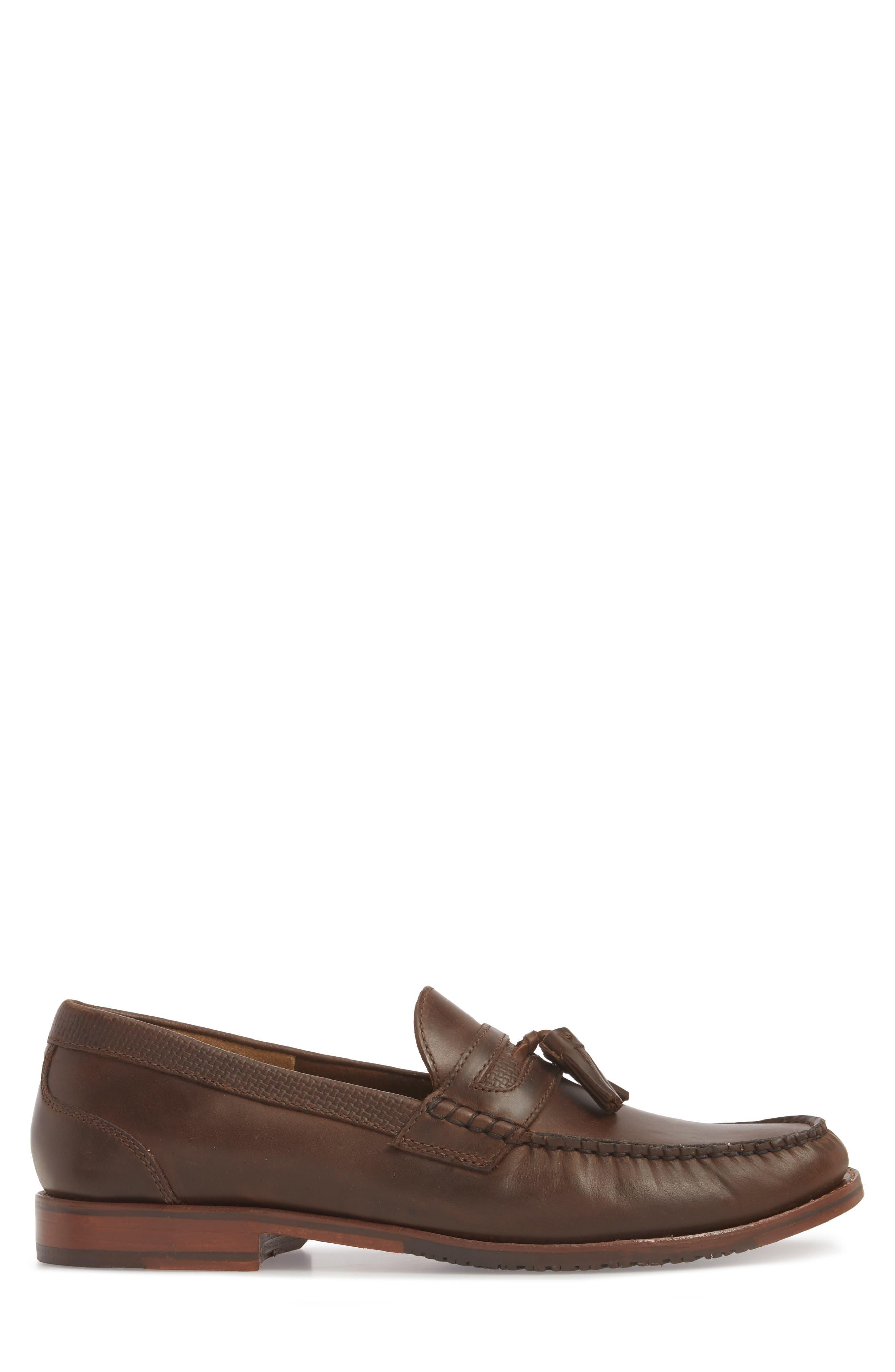 Tasslington Loafer,                             Alternate thumbnail 6, color,                             Dark Brown Leather