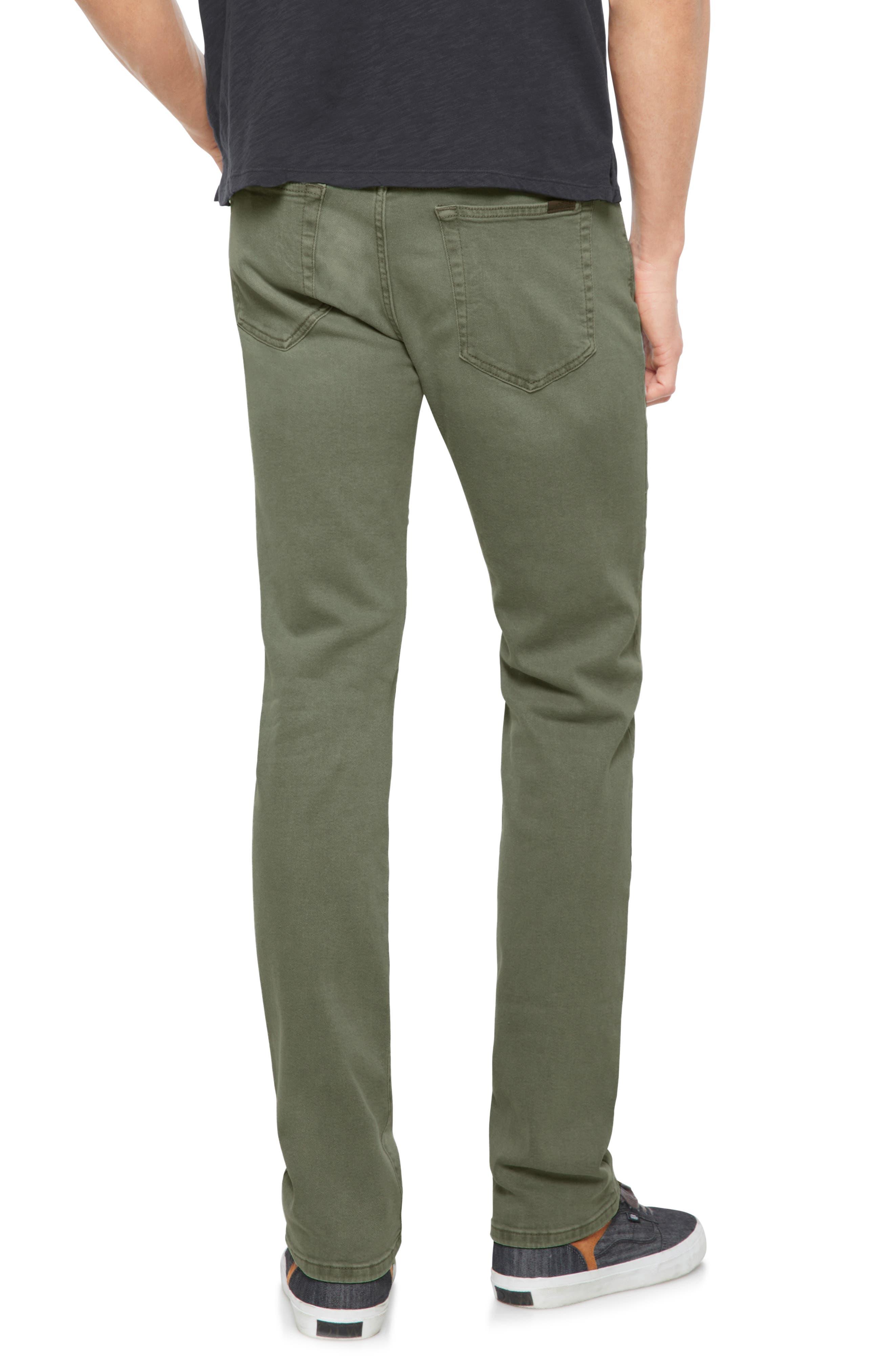 Brixton Slim Straight Leg Jeans,                             Alternate thumbnail 2, color,                             Olive Tree