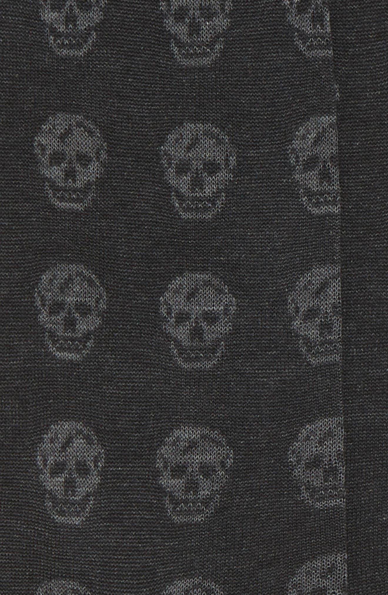 Skull Socks,                             Alternate thumbnail 2, color,                             Black Multi