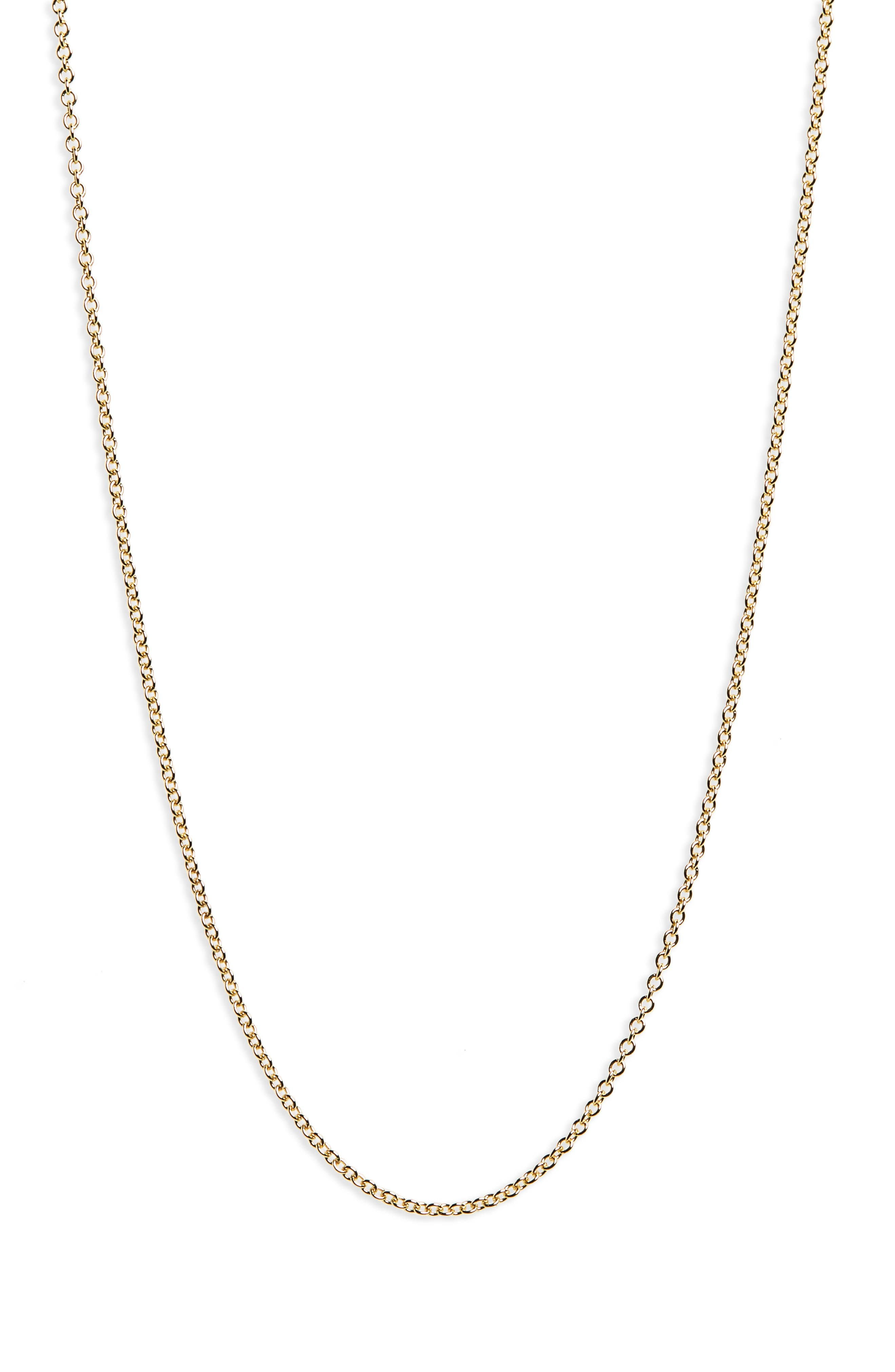 14K Gold Rolo Chain Necklace,                             Main thumbnail 1, color,                             Yellow Gold