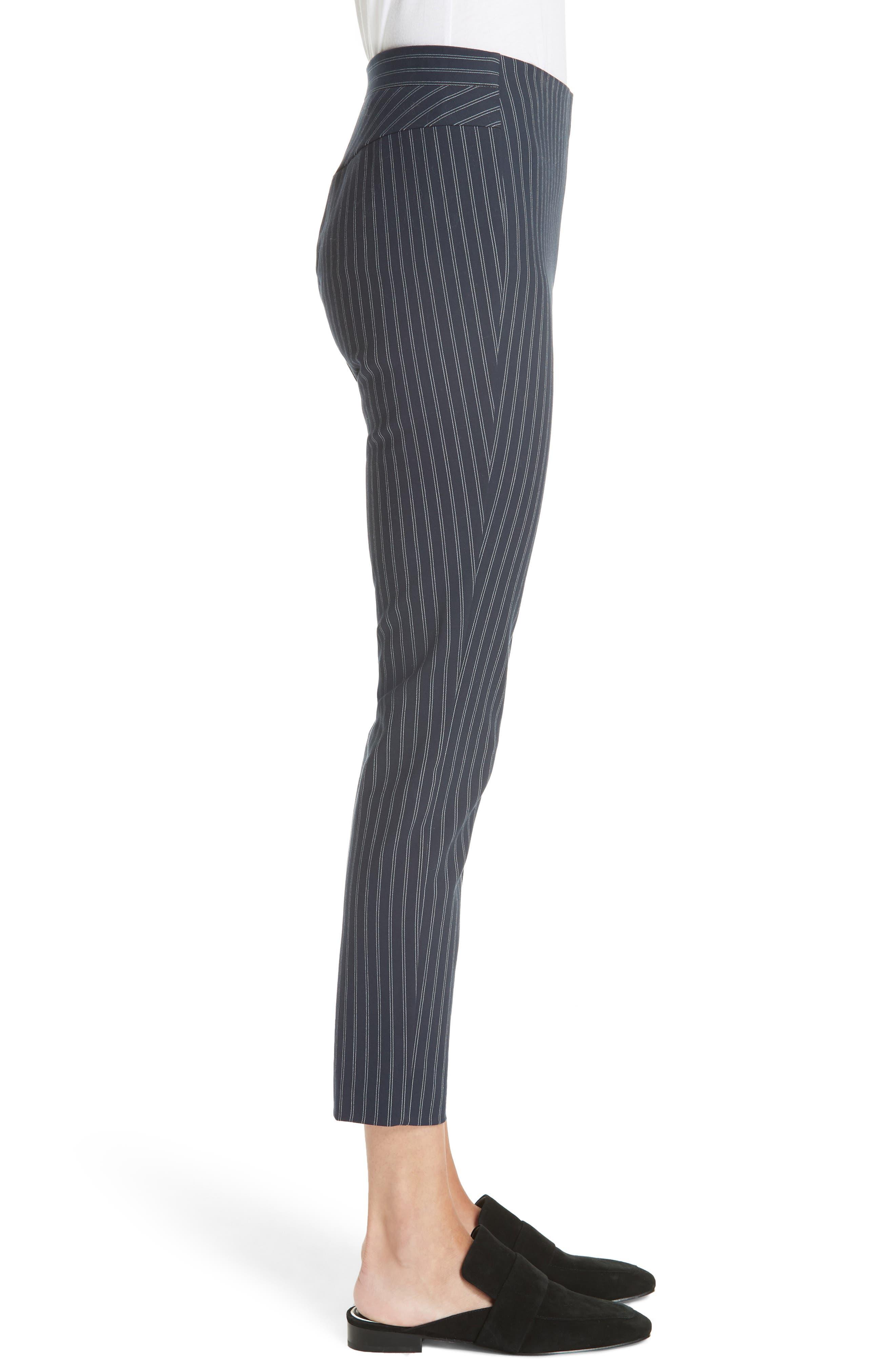 Simone Pinstripe Pants,                             Alternate thumbnail 6, color,                             Navy/ White