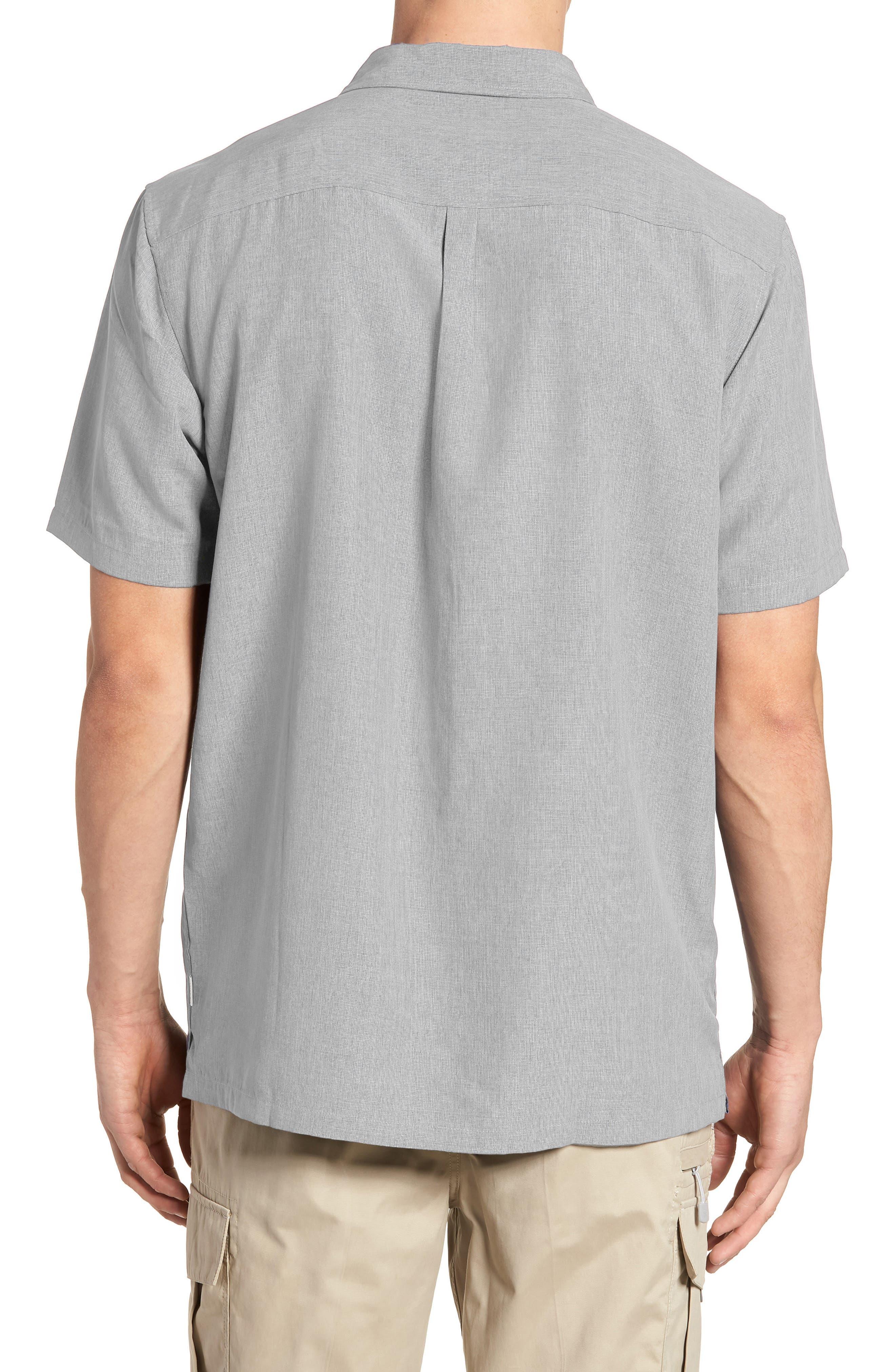 Liberty Regular Fit Short Sleeve Sport Shirt,                             Alternate thumbnail 10, color,                             Light Grey
