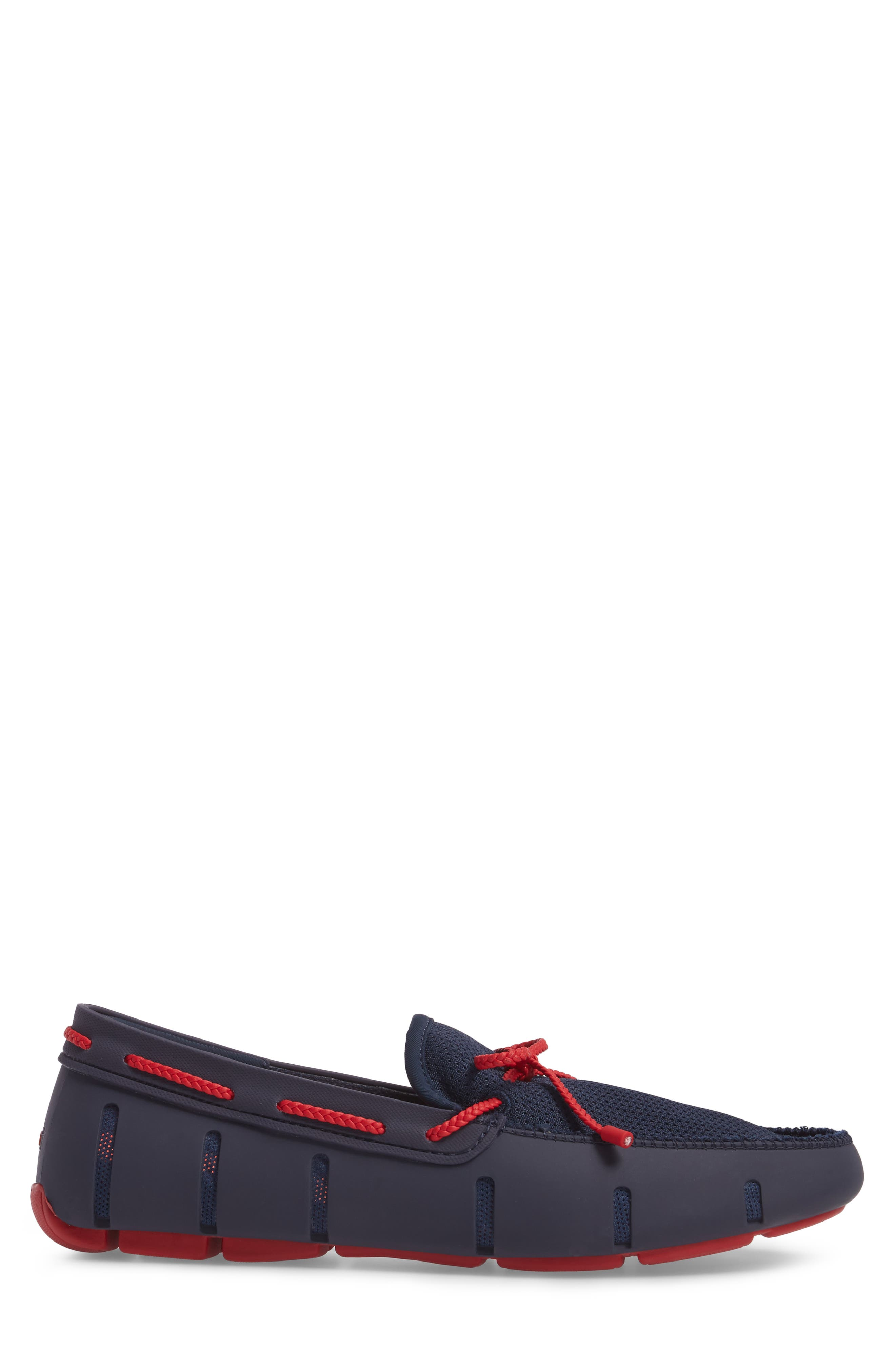 Lace Loafer,                             Alternate thumbnail 3, color,                             Navy/ Navy/ Red