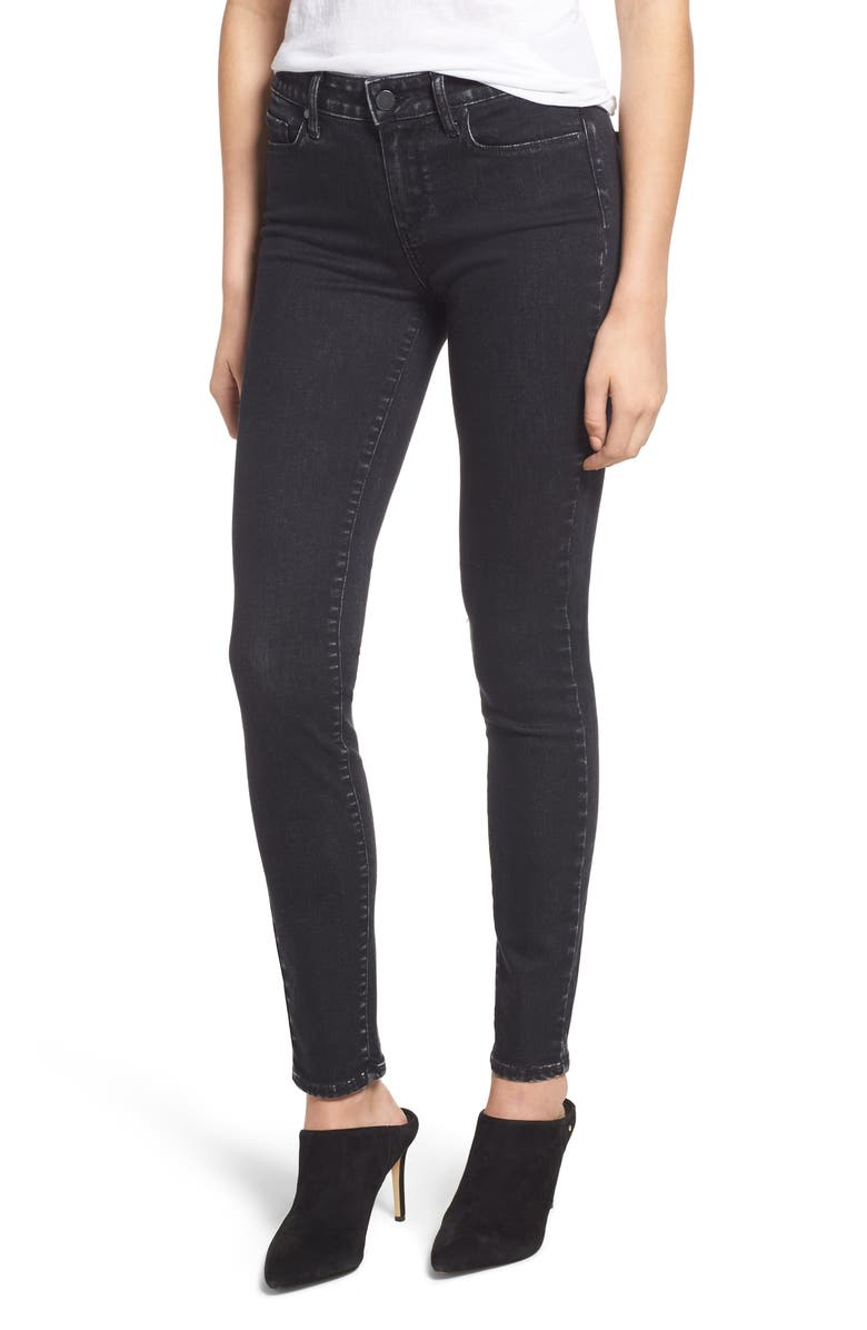 Denim 'Verdugo' Stretch Velvet Skinny Pants