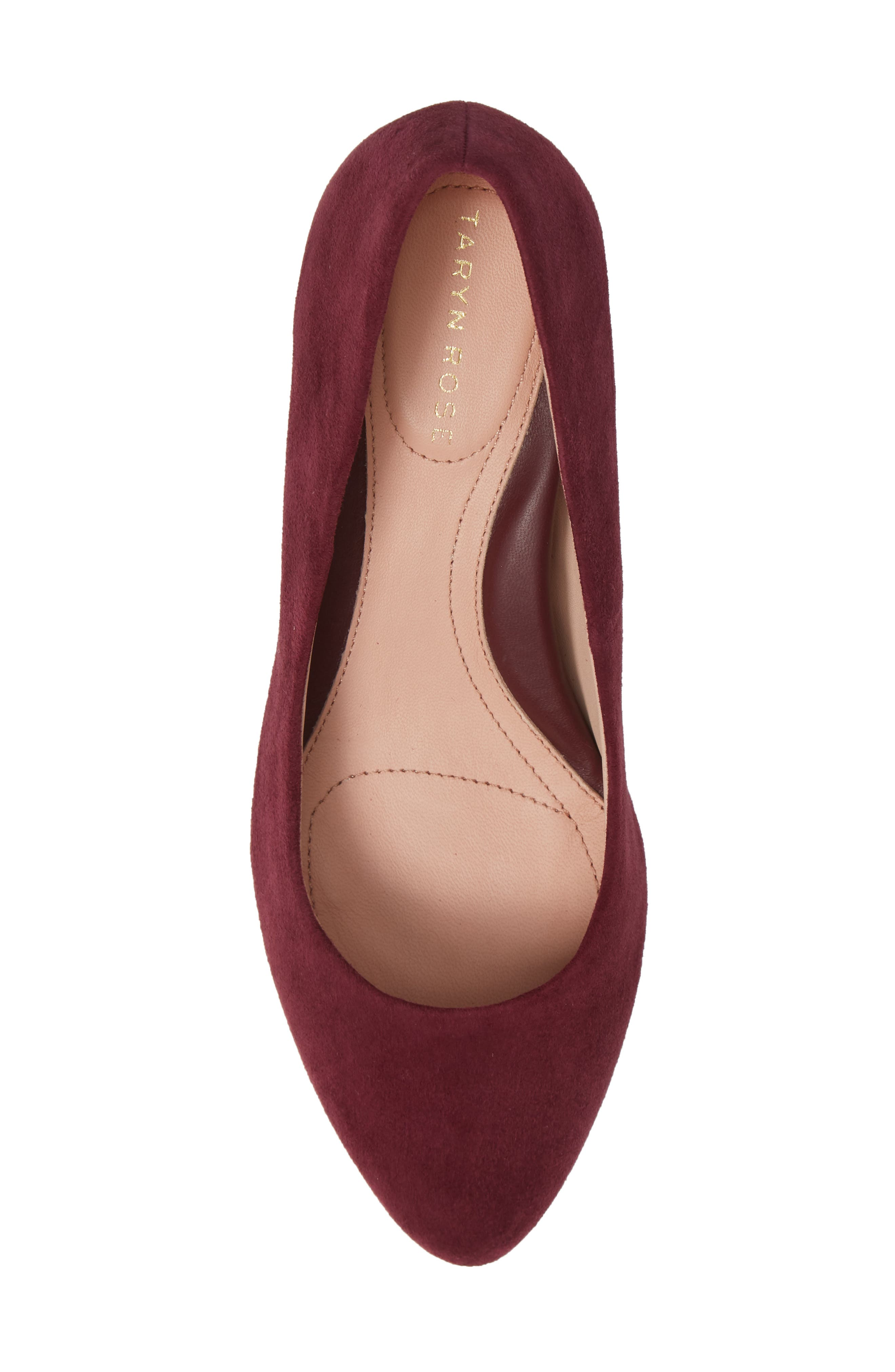 Rochelle Block Heel Pump,                             Alternate thumbnail 5, color,                             Fig Suede
