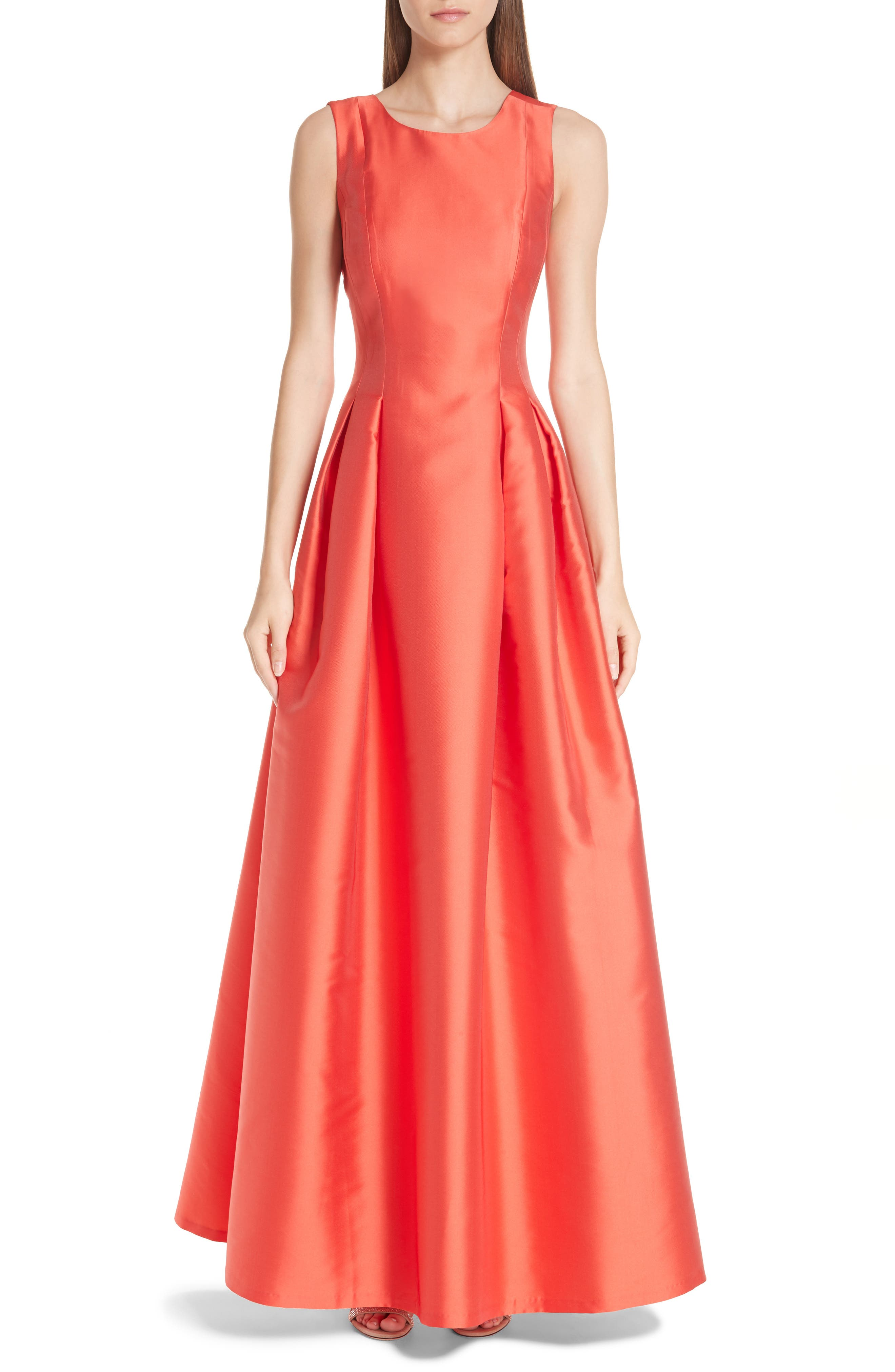 Marmara Ballgown,                             Main thumbnail 1, color,                             Coral Red