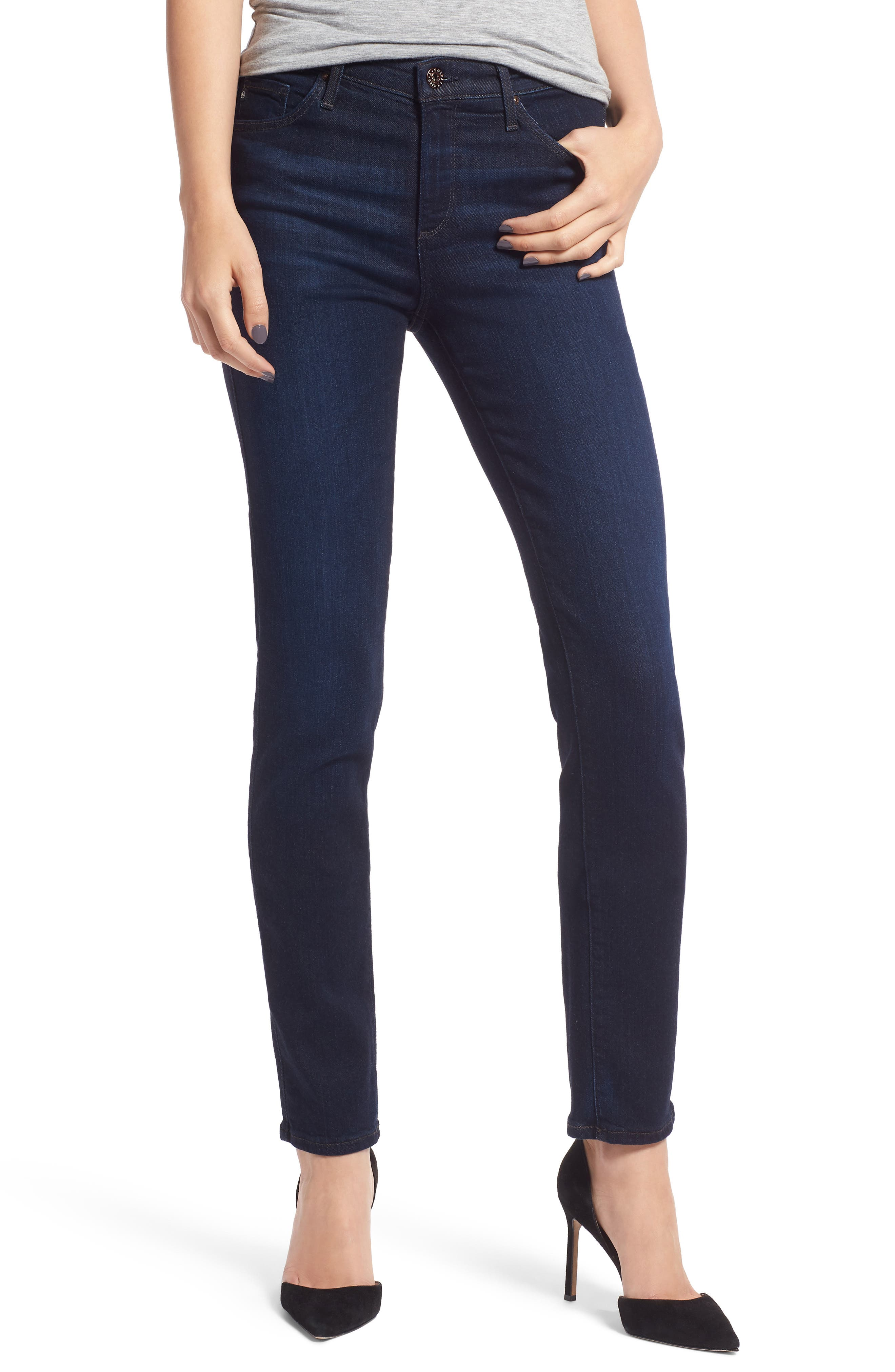 'Prima' Mid Rise Skinny Jeans,                             Main thumbnail 1, color,                             Glamour