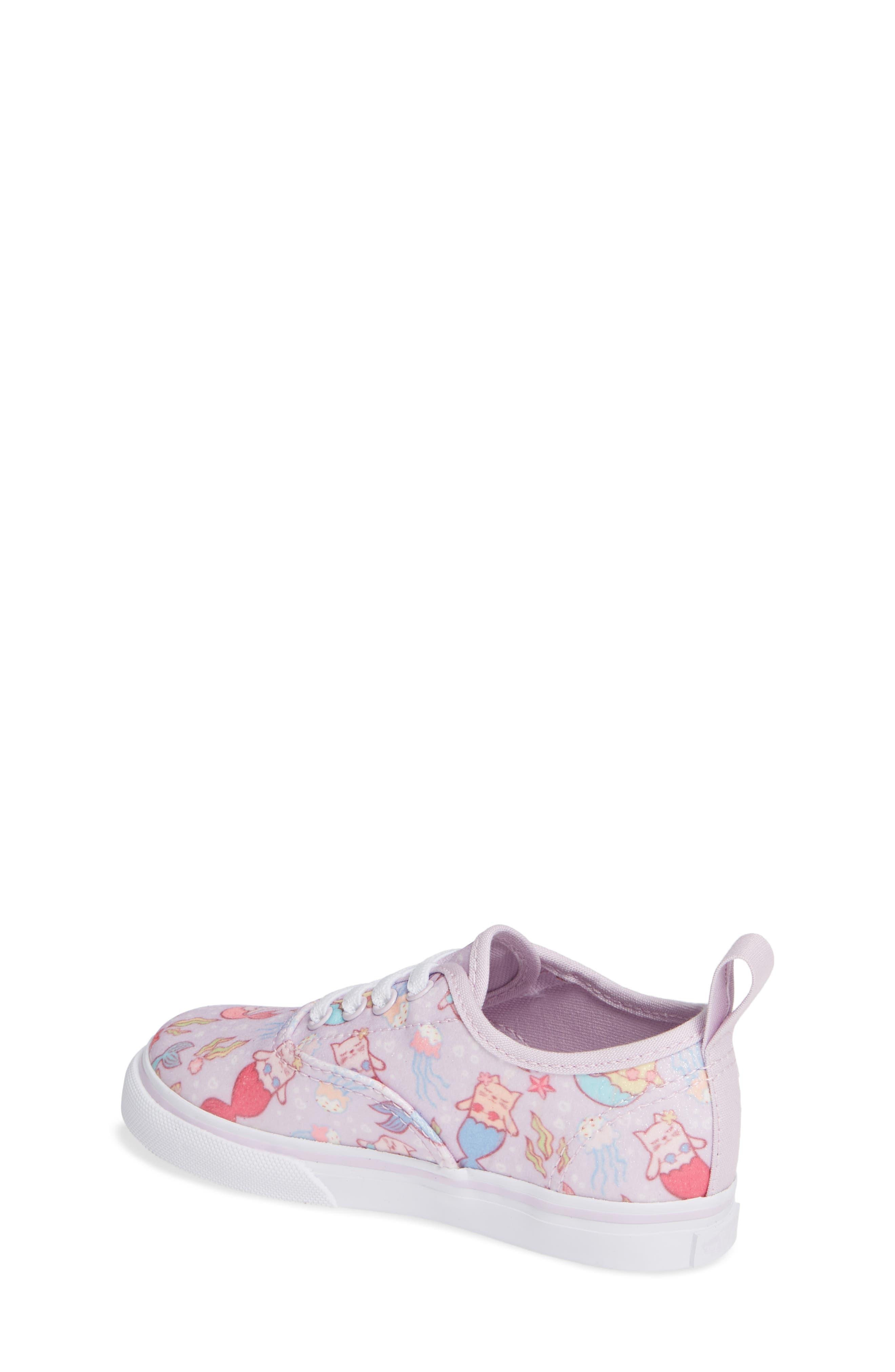 Authentic Elastic Lace Sneaker,                             Alternate thumbnail 2, color,                             Lavender Fog/ True White