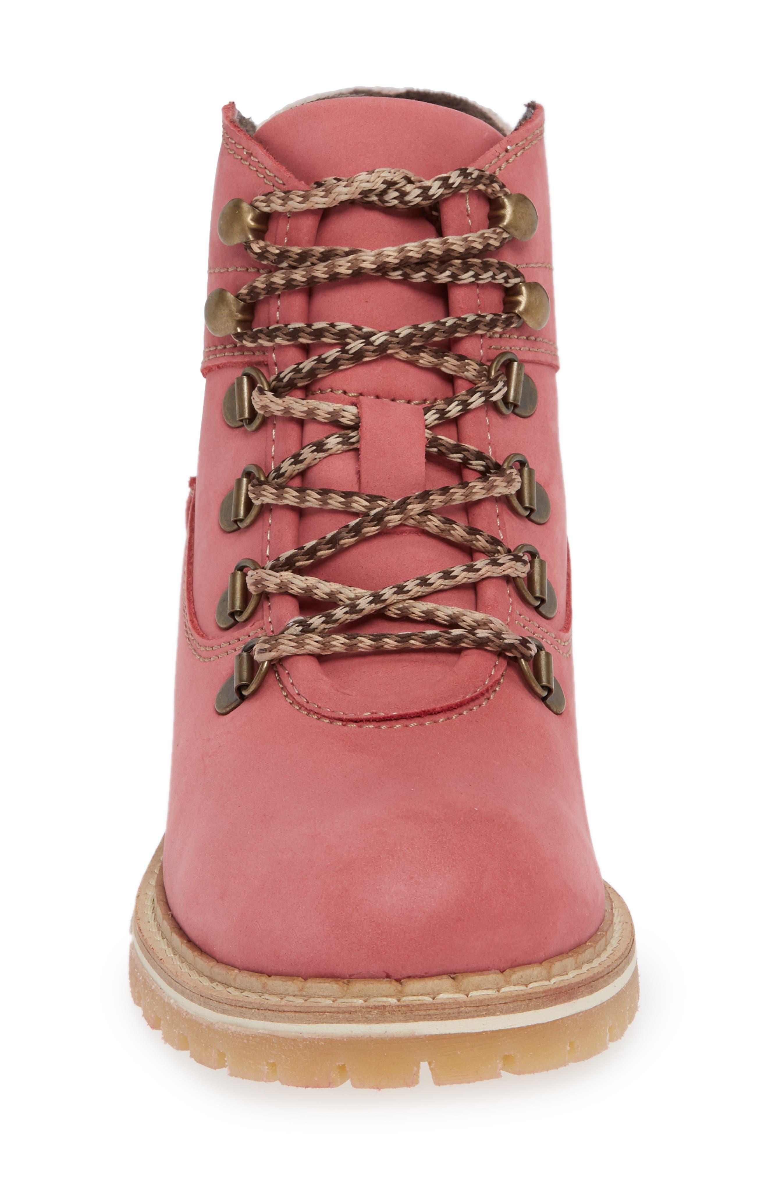 Hartney Waterproof Boot,                             Alternate thumbnail 3, color,                             Rosa Wool