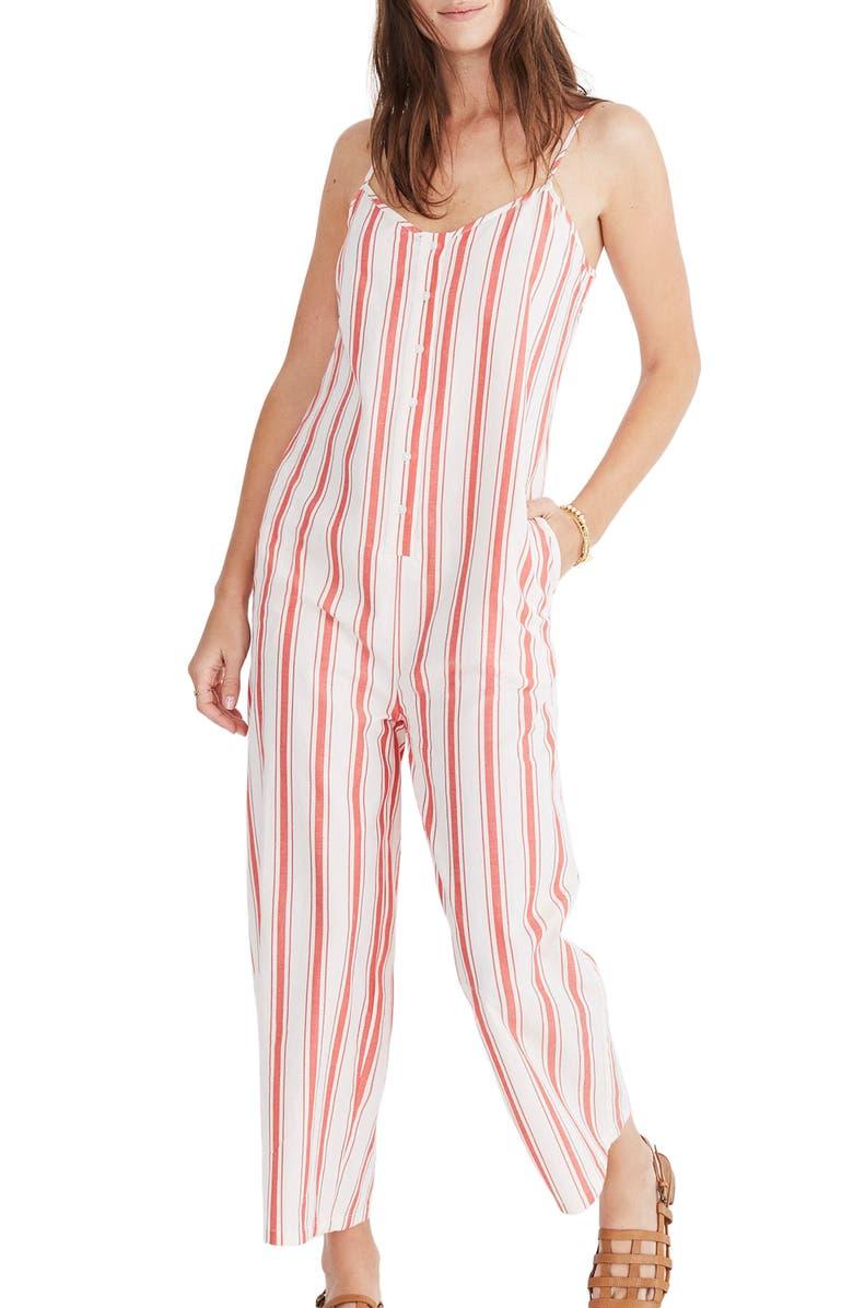 Stripe Camisole Jumpsuit