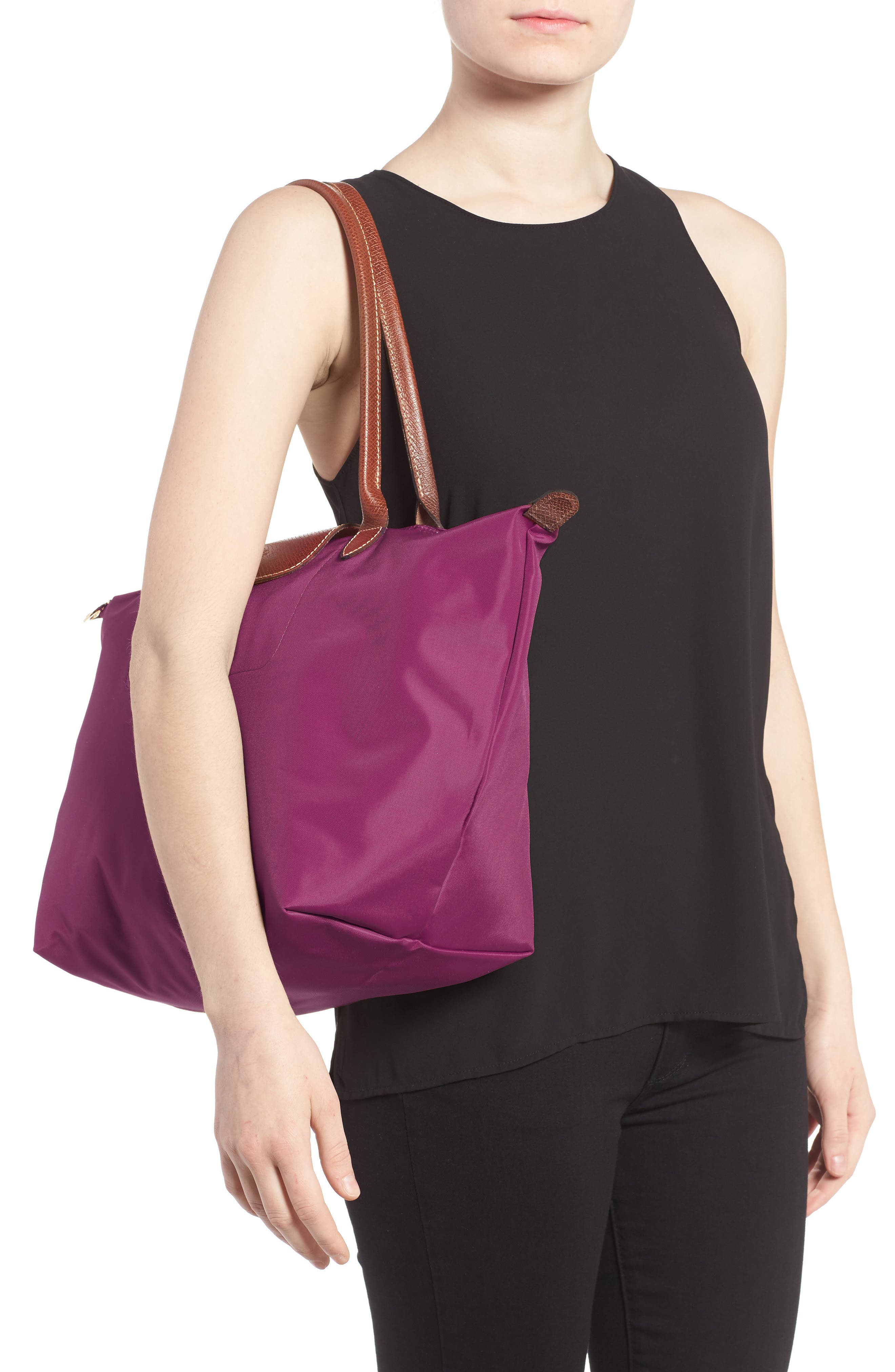 'Large Le Pliage' Tote,                             Alternate thumbnail 2, color,                             Dahlia