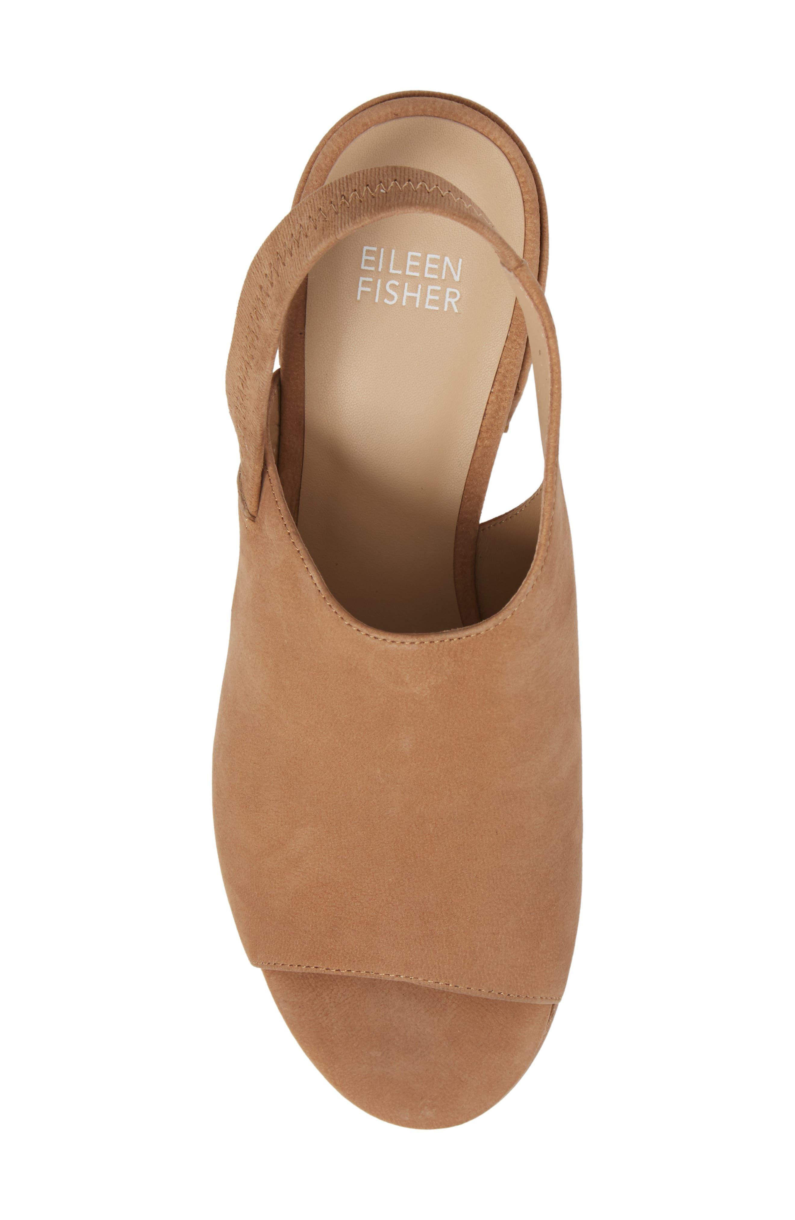 Leigh Asymmetrical Slingback Sandal,                             Alternate thumbnail 4, color,                             Wheat Leather