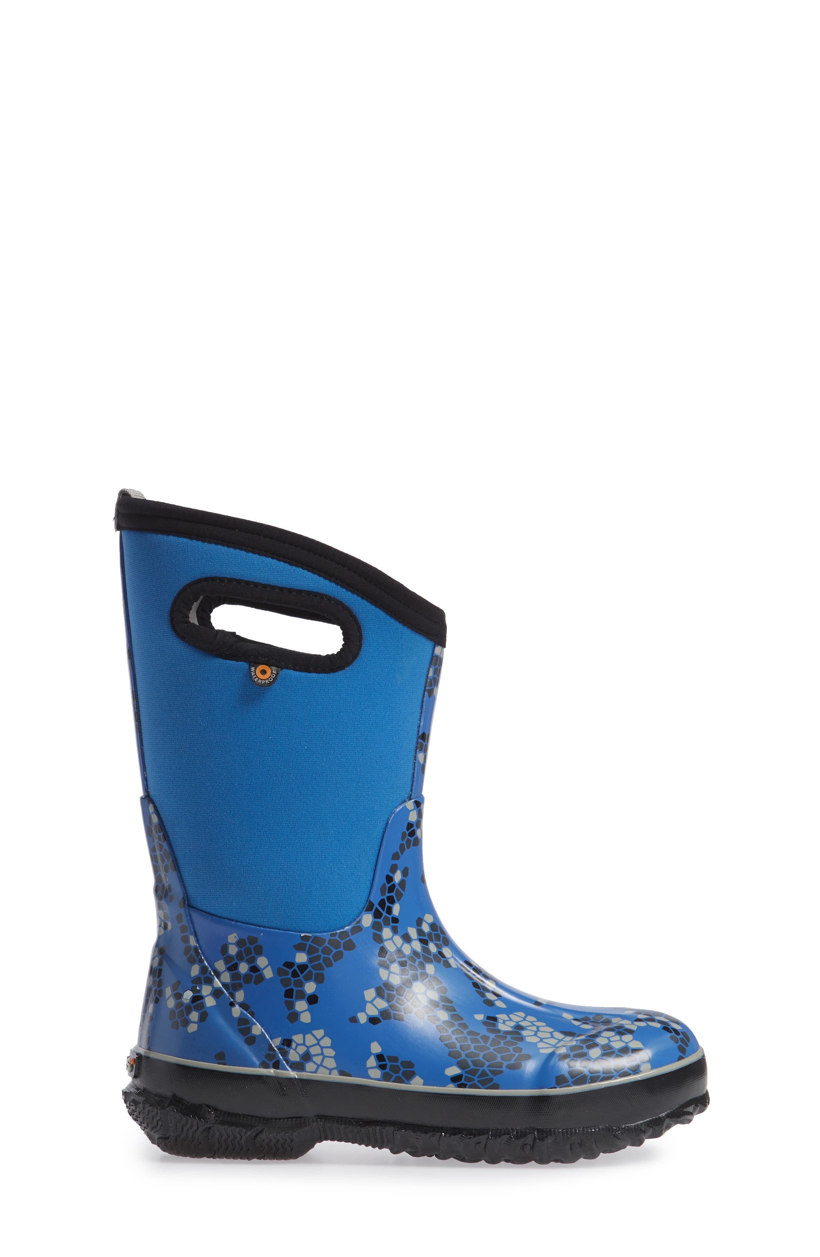Classic Axel Insulated Waterproof Boot,                             Alternate thumbnail 3, color,                             Blue Multi