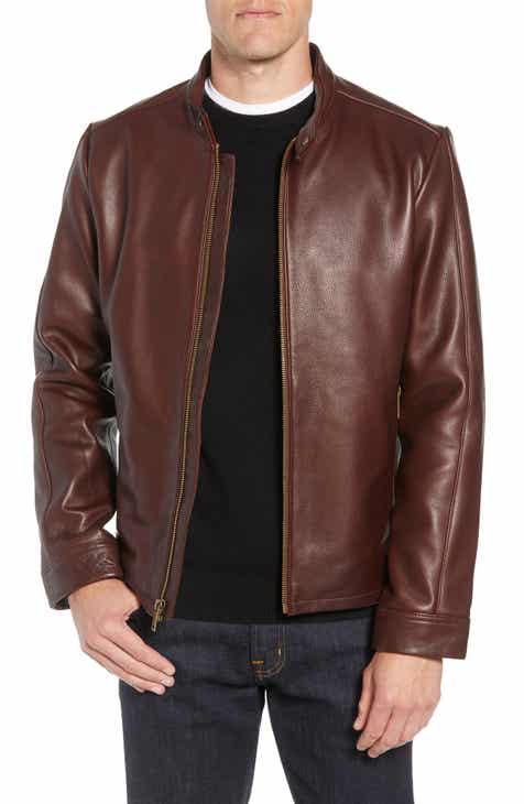 97d5f97bfb UGG® Orlando Leather Racer Coat
