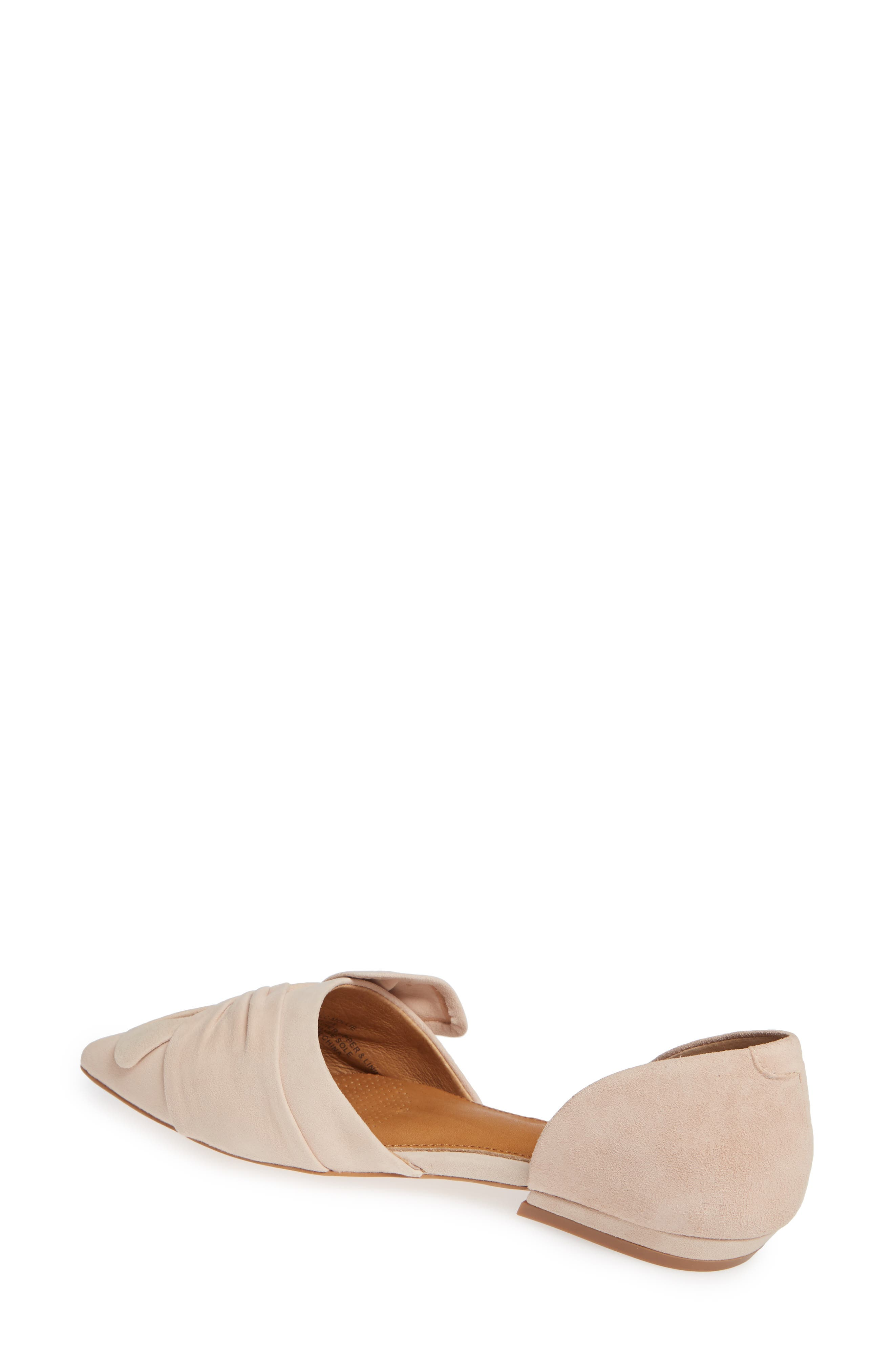 Mollie d'Orsay Flat,                             Alternate thumbnail 2, color,                             Nude Suede