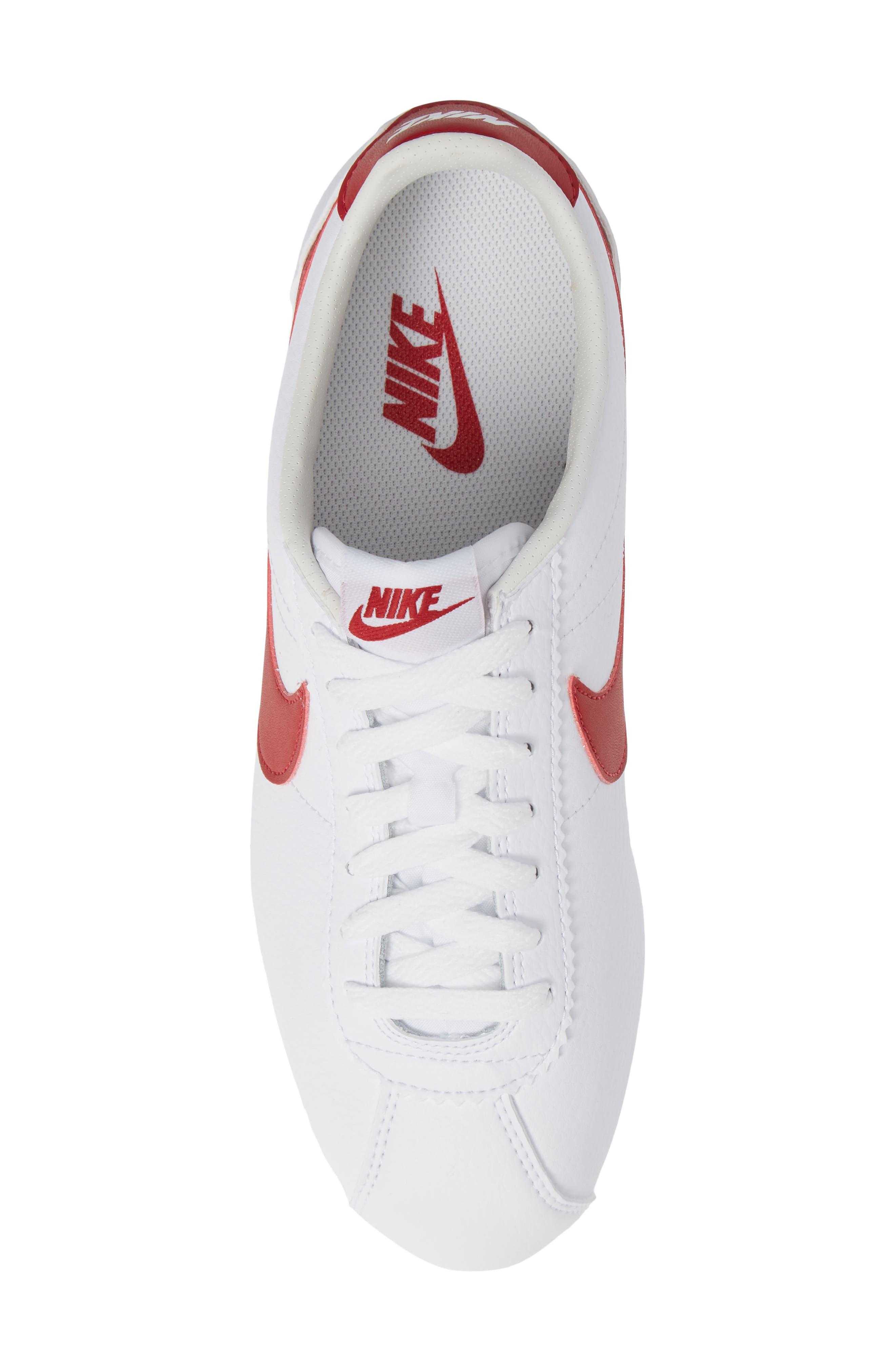 Classic Cortez Sneaker,                             Alternate thumbnail 6, color,                             White/ Varsity Red/ Royal