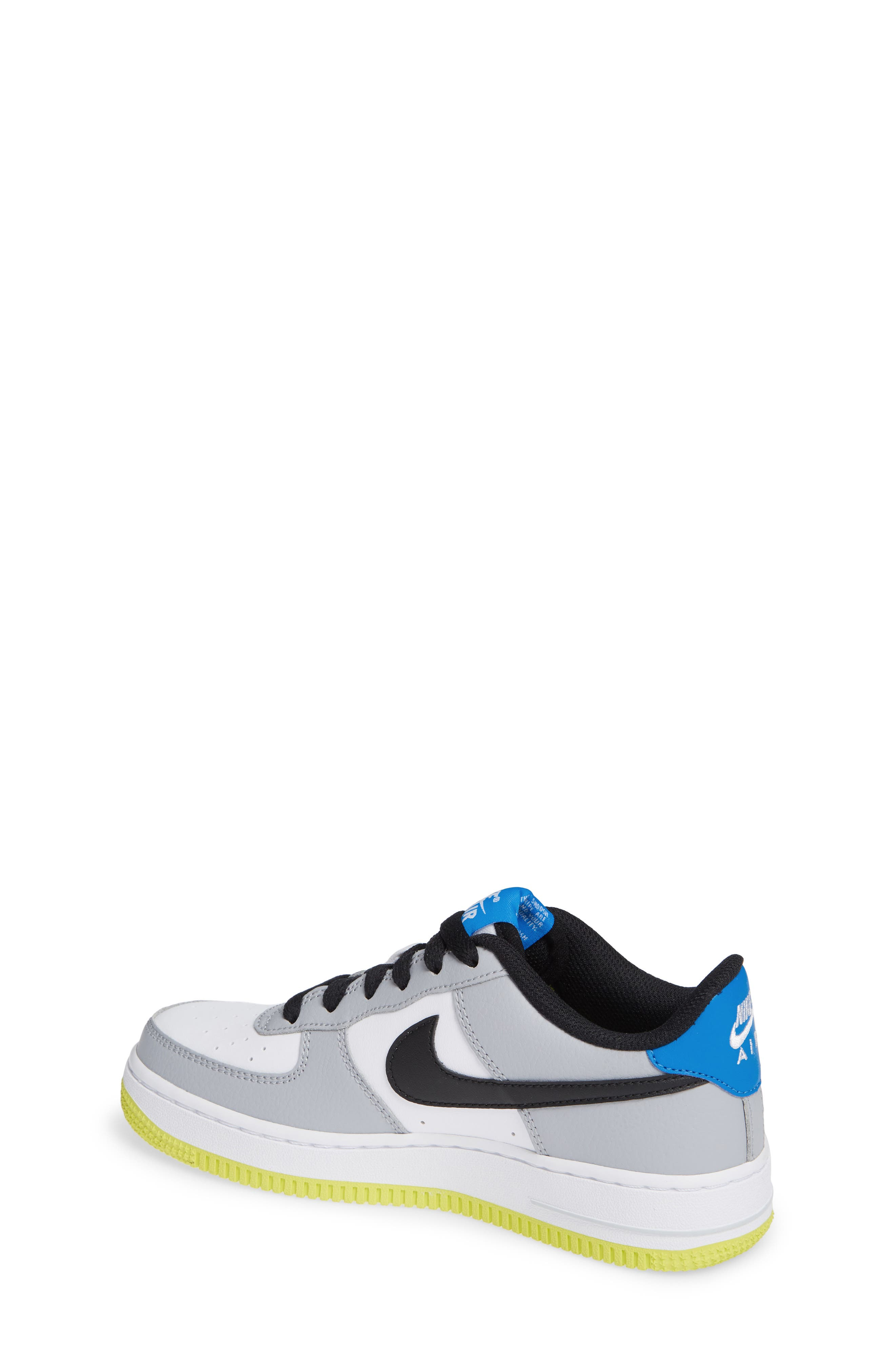 Air Force 1 Sneaker,                             Alternate thumbnail 2, color,                             Wolf Grey/ Black/ White/ Blue