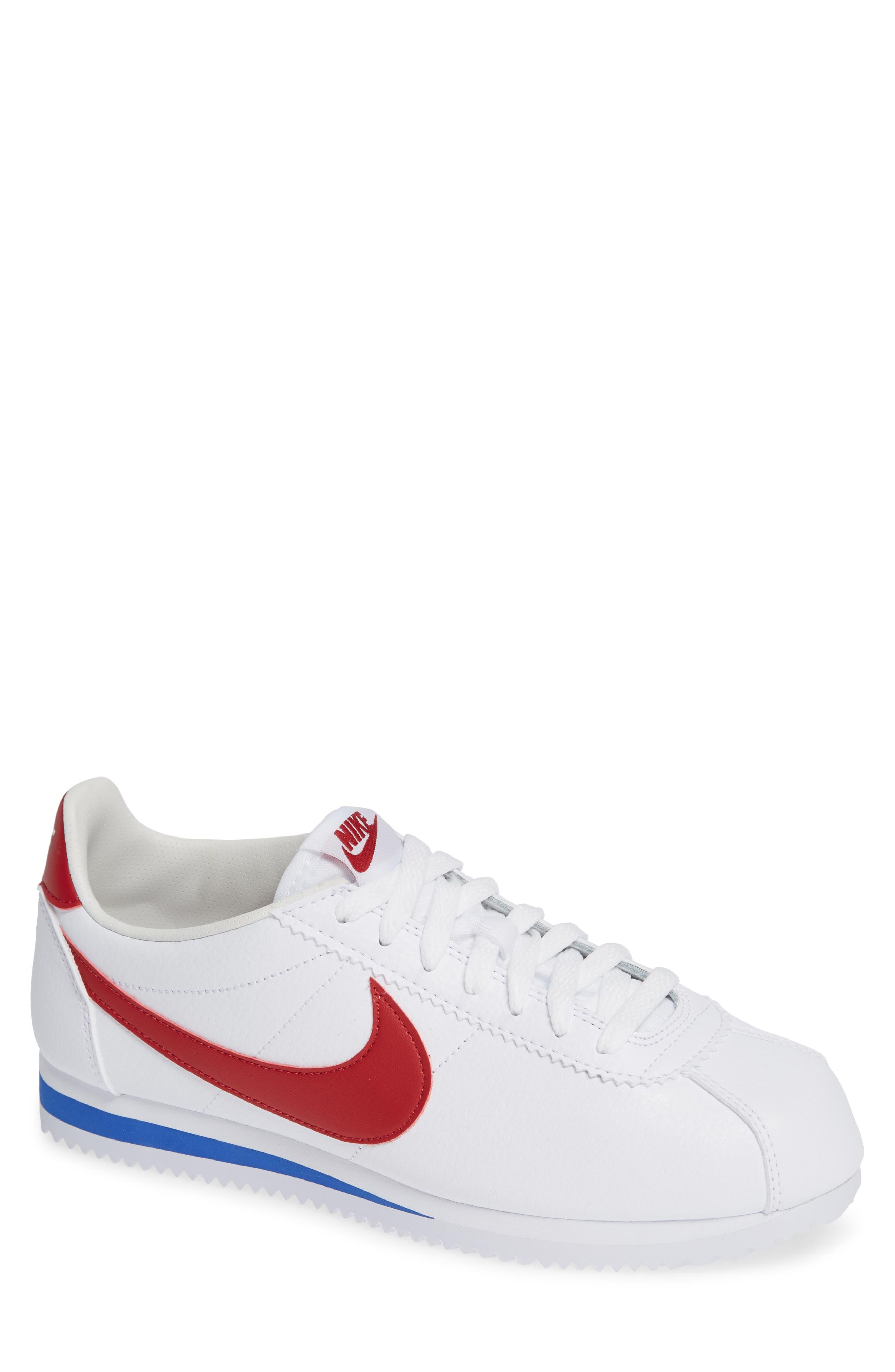 Classic Cortez Sneaker,                             Main thumbnail 1, color,                             White/ Varsity Red/ Royal