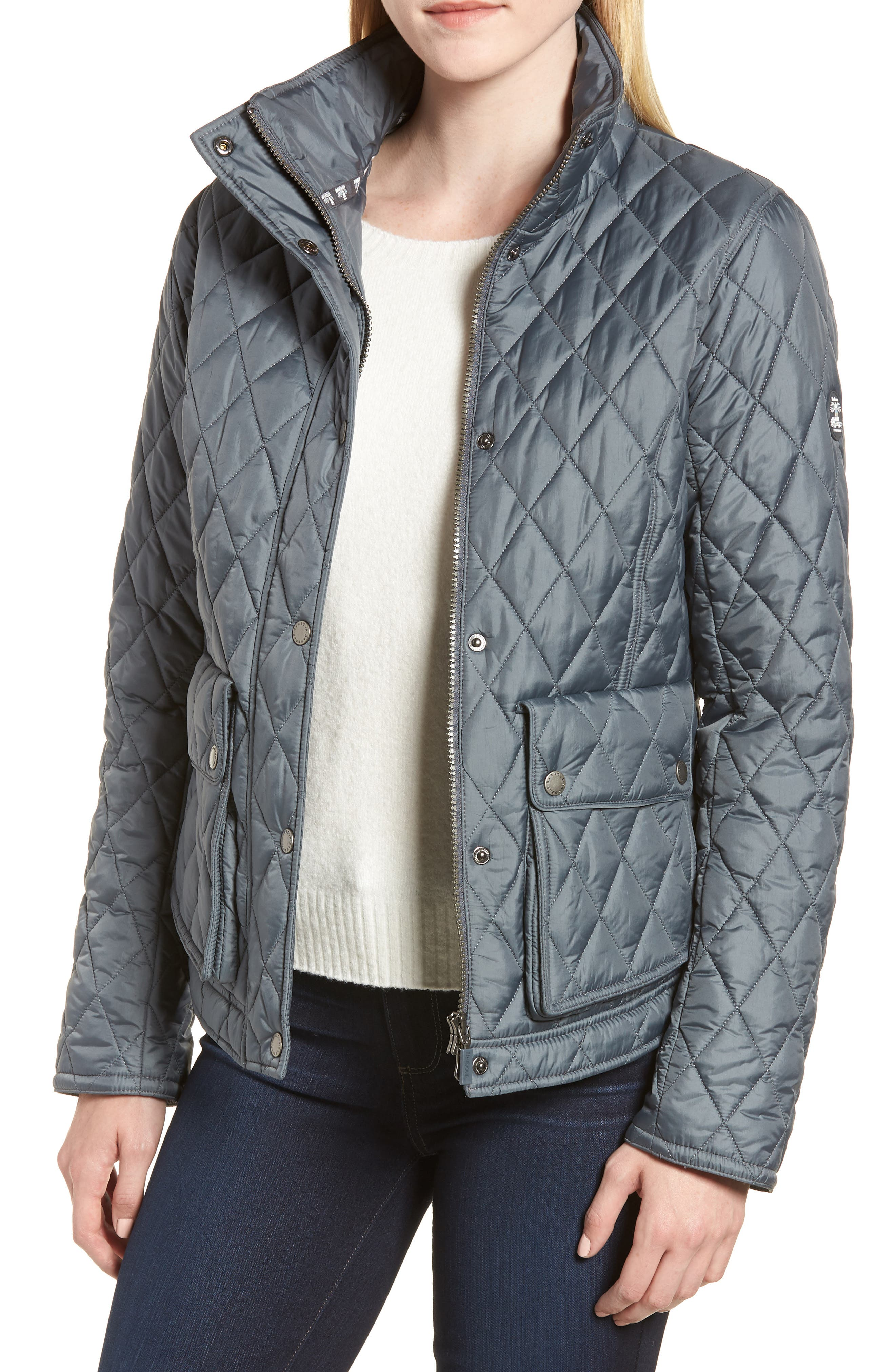 Fairway Quilted Jacket,                         Main,                         color, Washed Charcoal
